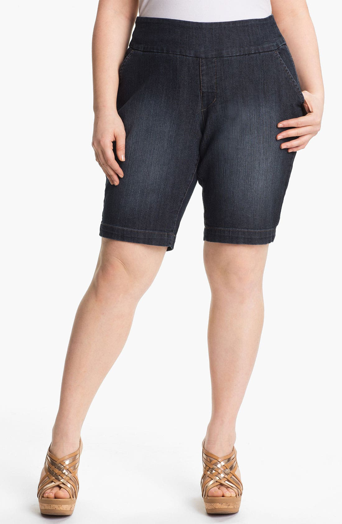 Alternate Image 1 Selected - Jag Jeans 'Louie' Bermuda Shorts (Plus) (Online Only)