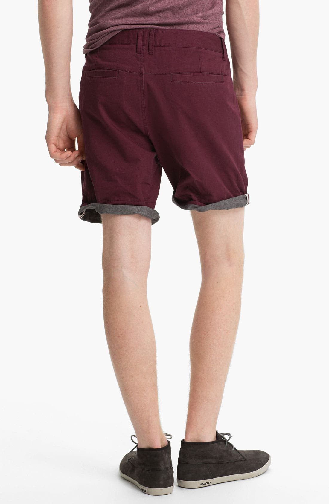 Alternate Image 4  - Topman Turn-Up Chino Shorts
