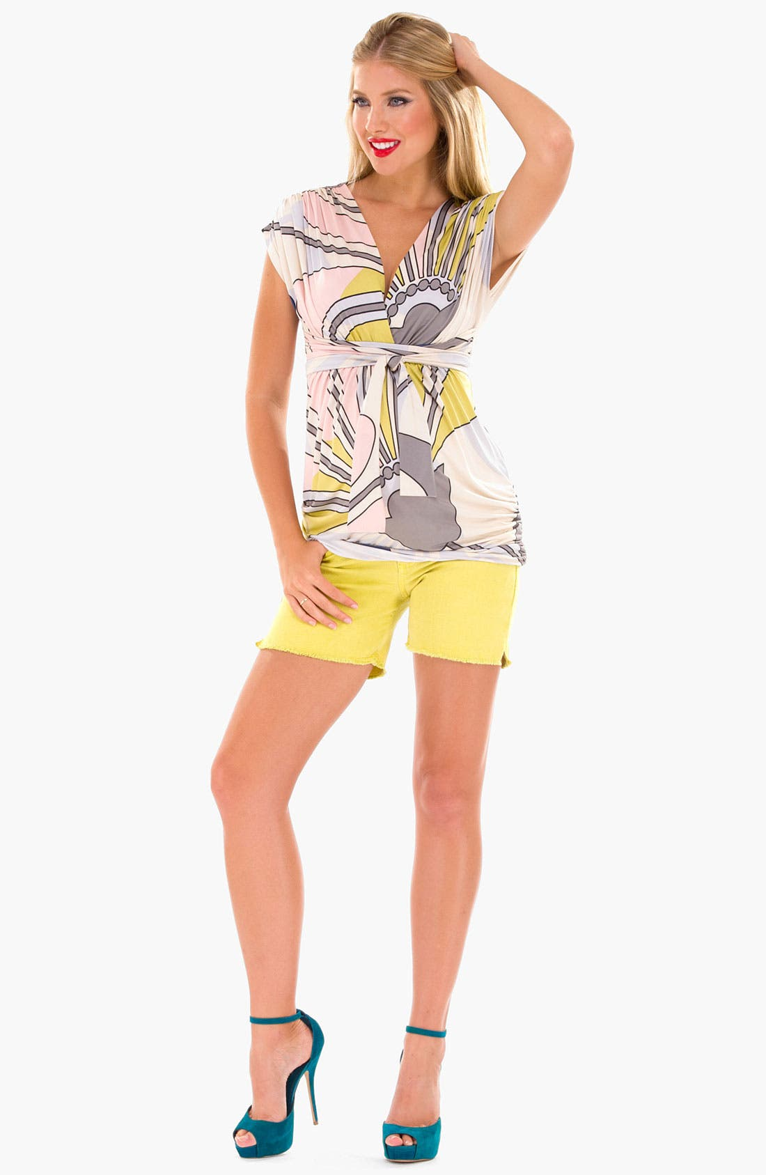 Alternate Image 1 Selected - Olian Print Maternity Tunic