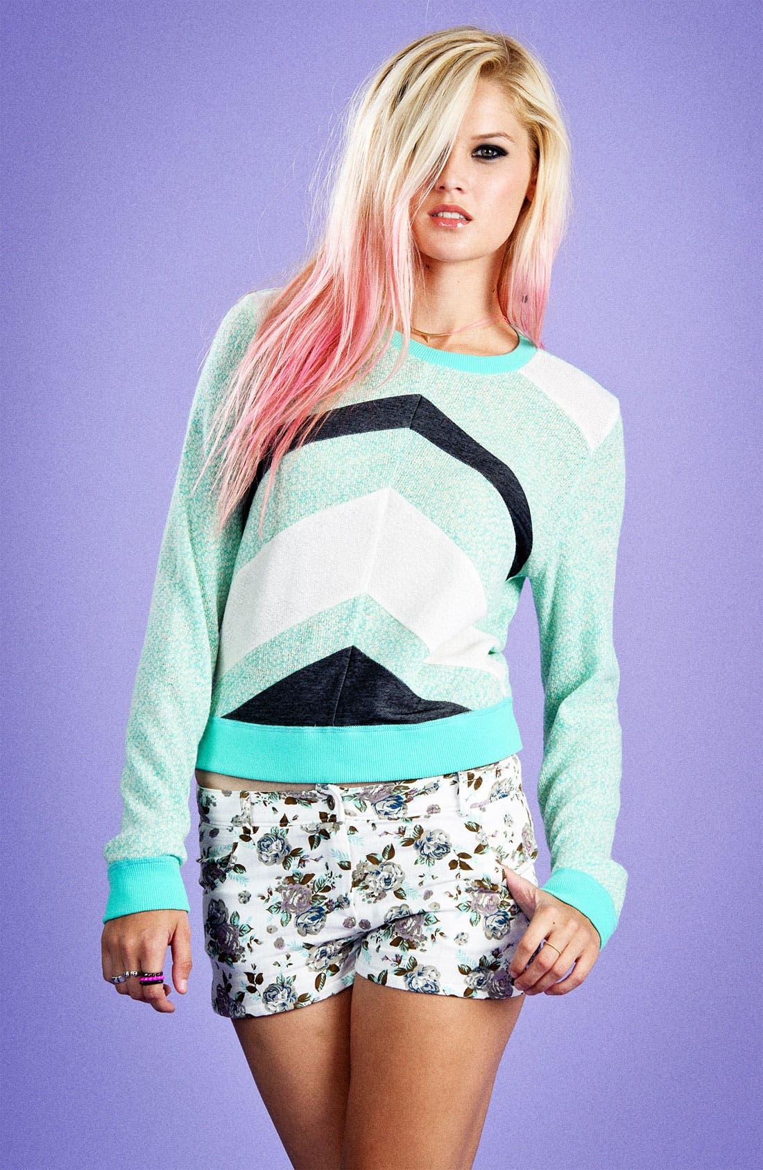 Alternate Image 5  - Lucca Couture Chevron Stripe Sweater