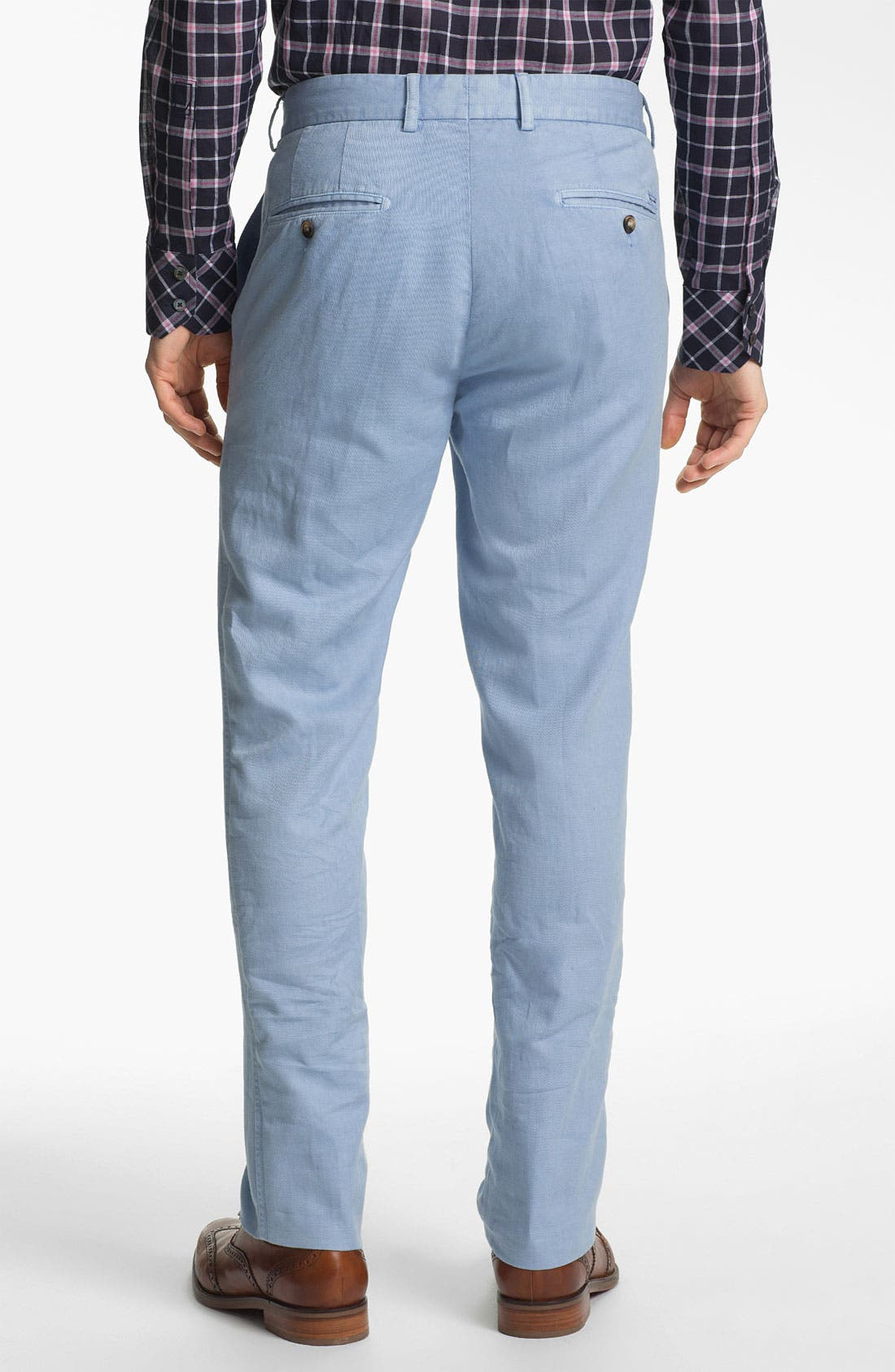 Alternate Image 2  - Façonnable 'USA Senator' Flat Front Pants
