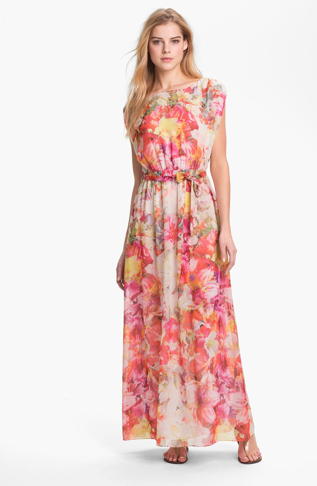 Alternate Image 1 Selected - Vince Camuto Floral Print Maxi Dress
