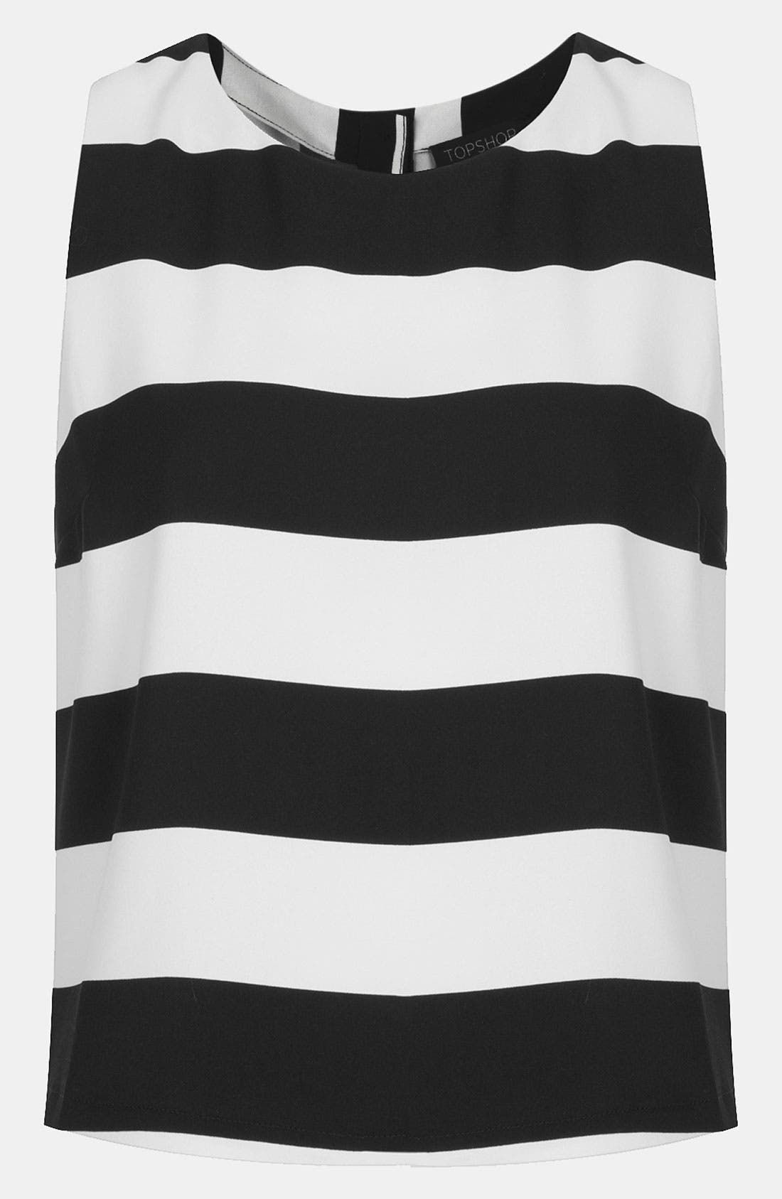 Alternate Image 1 Selected - Topshop Stripe Mod Tank