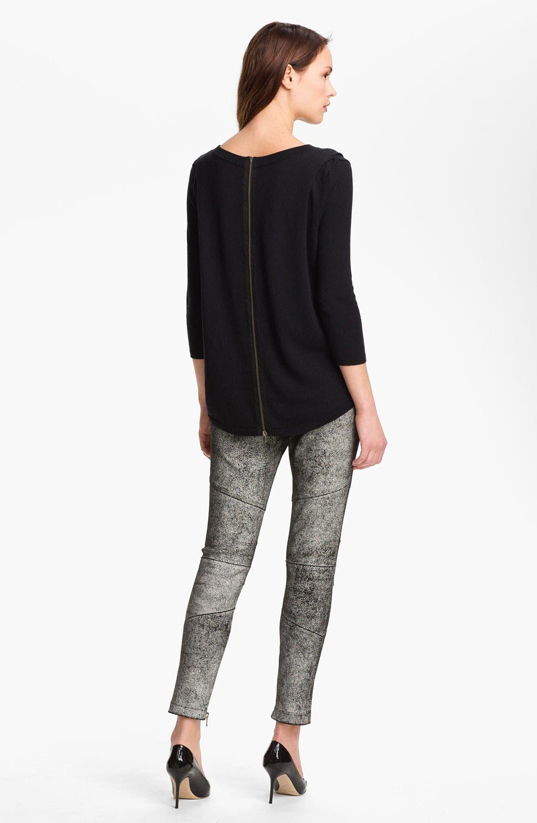 Alternate Image 2  - Skaist-Taylor Back Zip Wool Blend Sweater