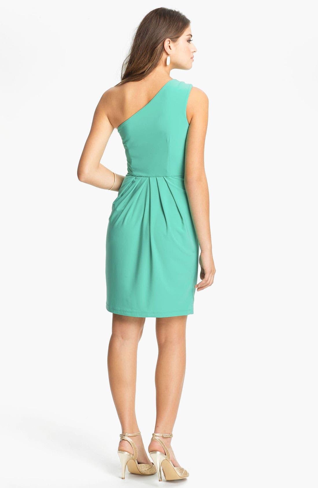Alternate Image 2  - Max & Cleo Embellished One Shoulder Dress
