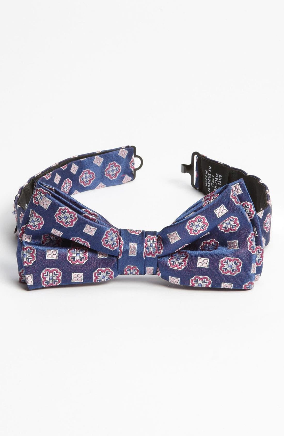 Alternate Image 1 Selected - BOSS Black Silk Bow Tie