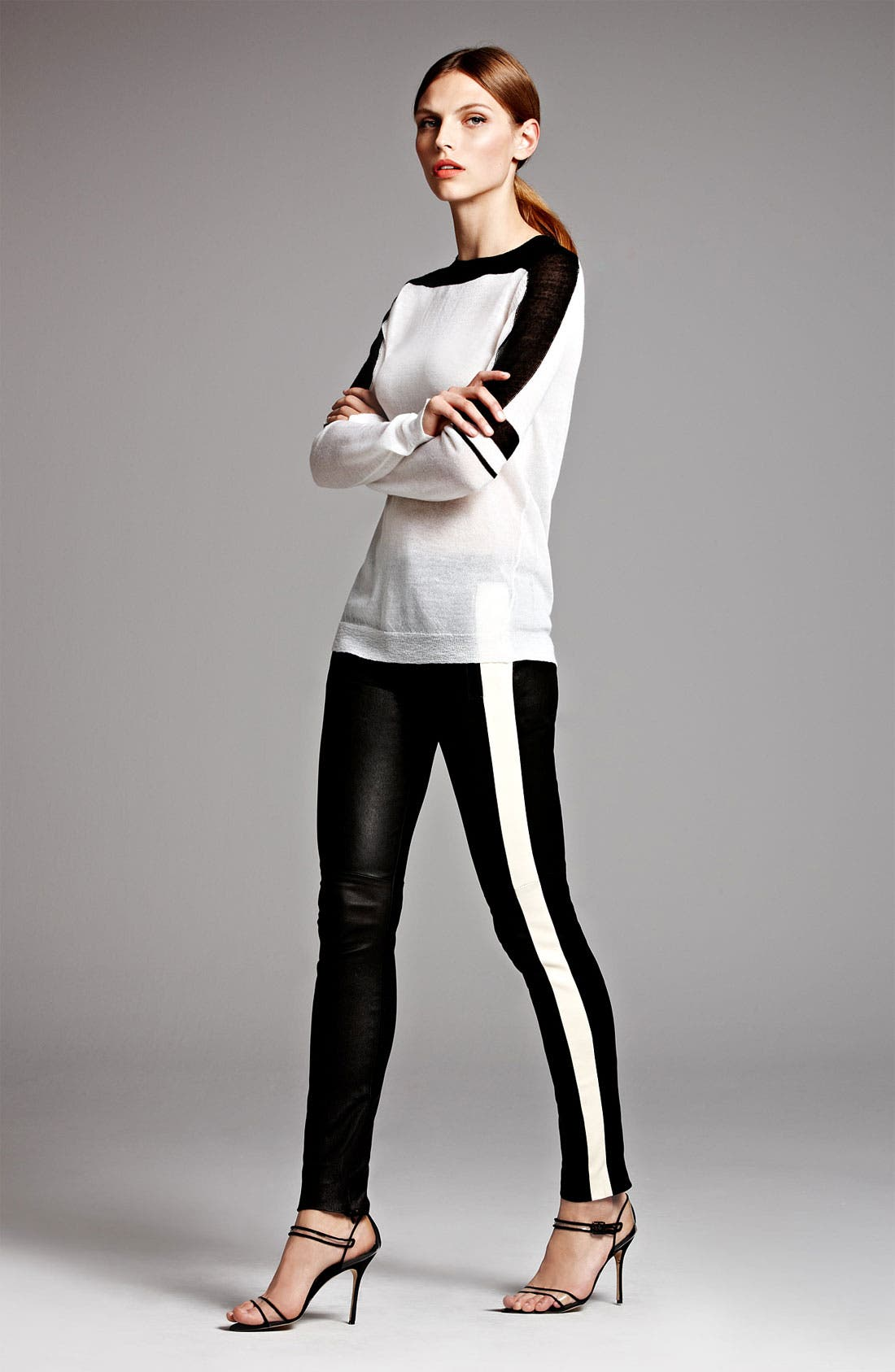 Alternate Image 6  - A.L.C. 'Hendon' Leather Pants