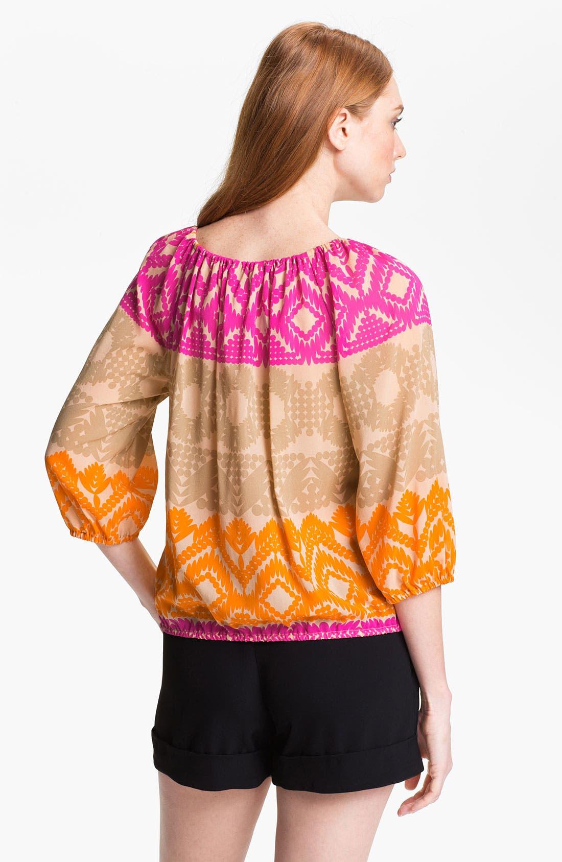 Alternate Image 2  - Trina Turk 'Traveller' Stretch Silk Top