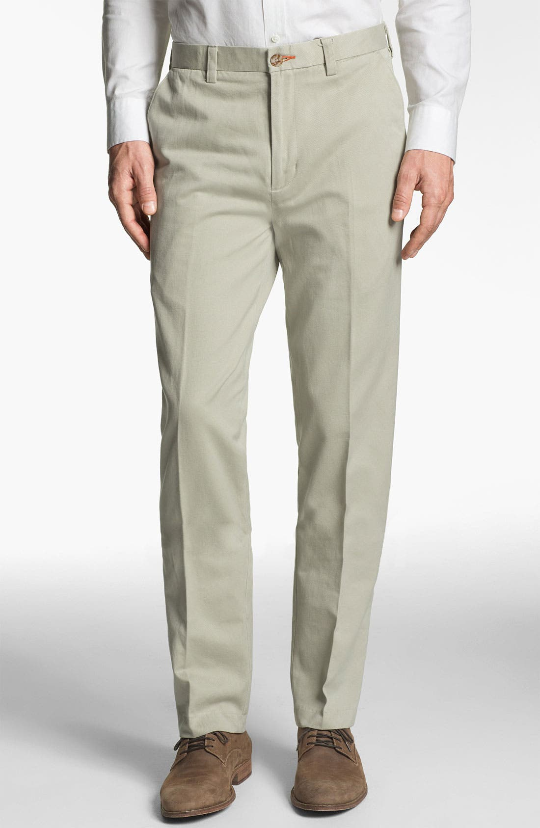 Main Image - ROAD 'Lux' Flat Front Twill Trousers