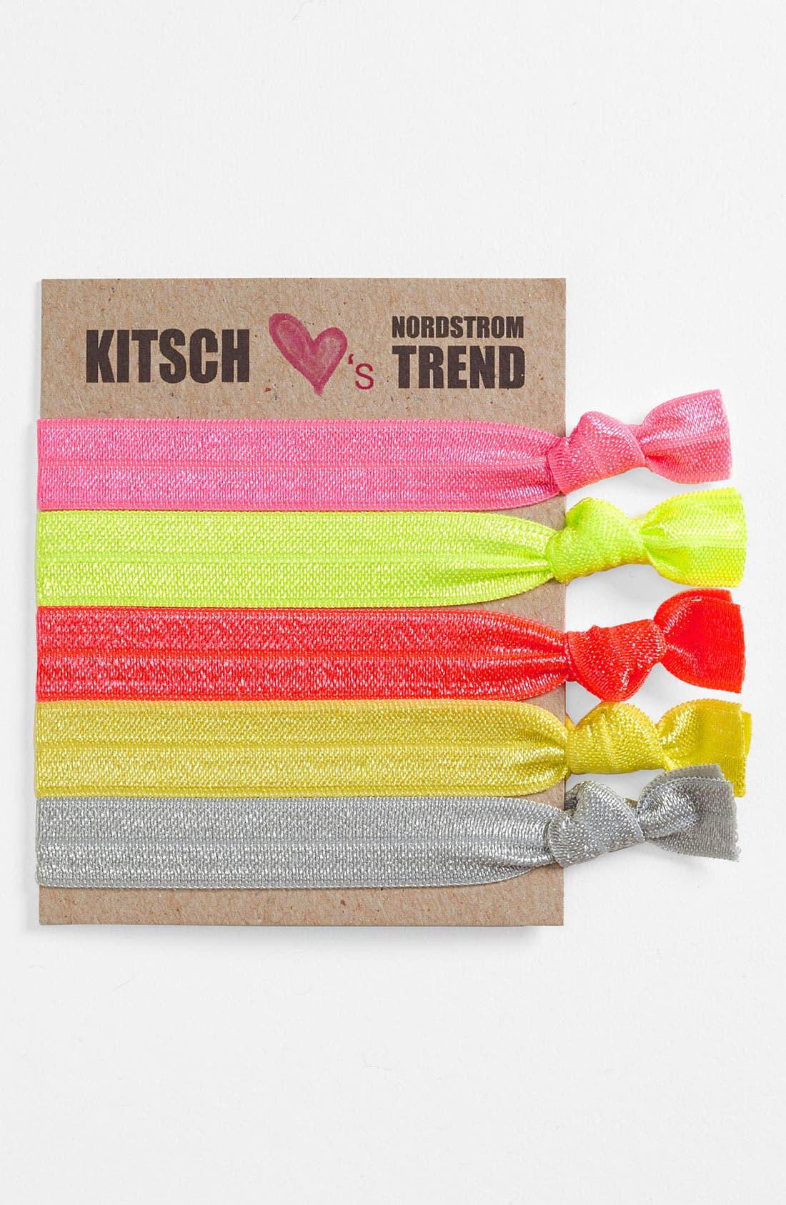 Main Image - Kitsch 'Neopop' Hair Ties (5-Pack)