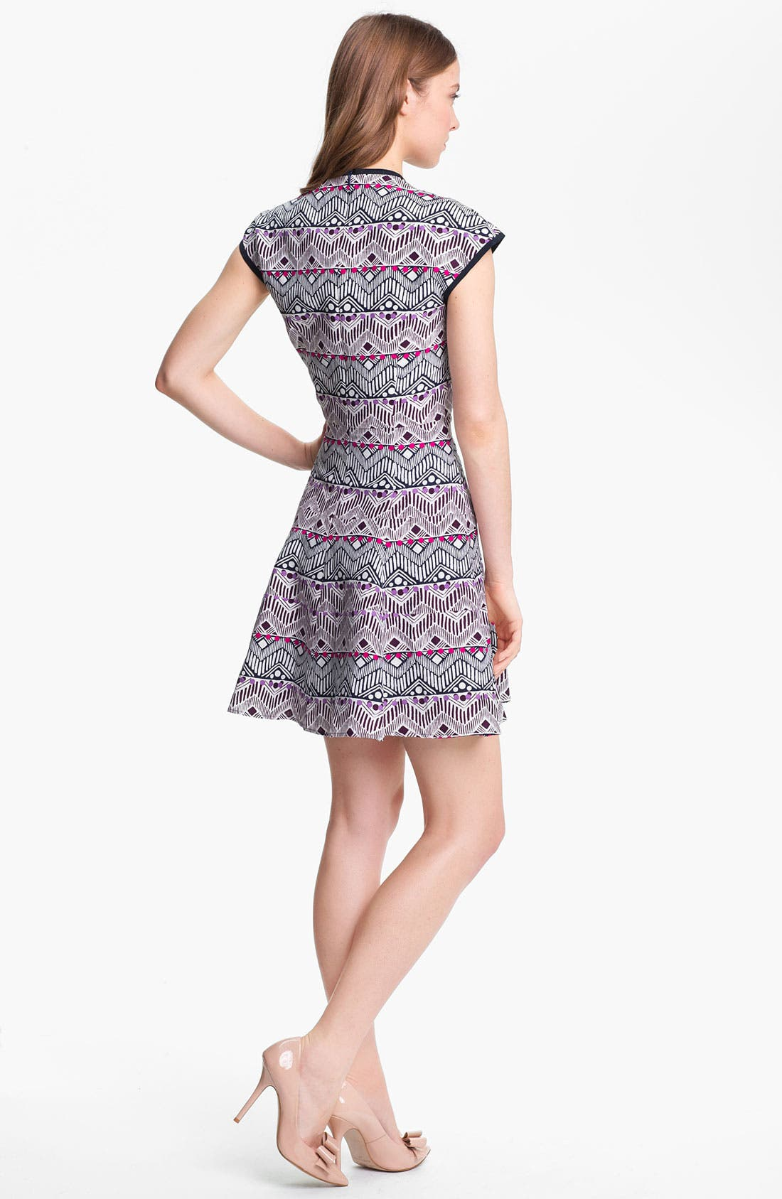 Alternate Image 2  - Nanette Lepore 'Deep Cove' Silk Blend Fit & Flare Dress