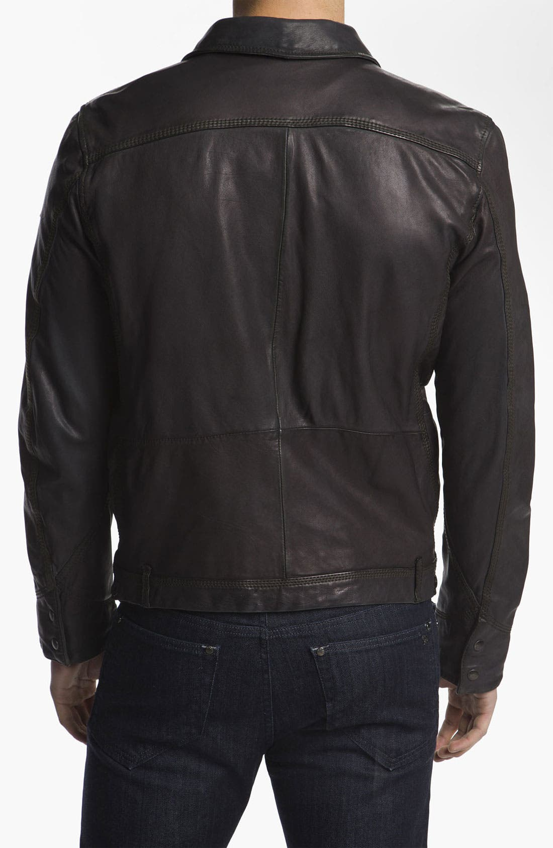 Alternate Image 2  - DIESEL® 'Laurence' Leather Jacket