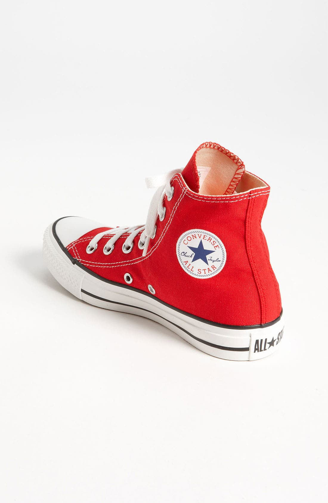 Chuck Taylor<sup>®</sup> High Top Sneaker,                             Alternate thumbnail 2, color,                             Red