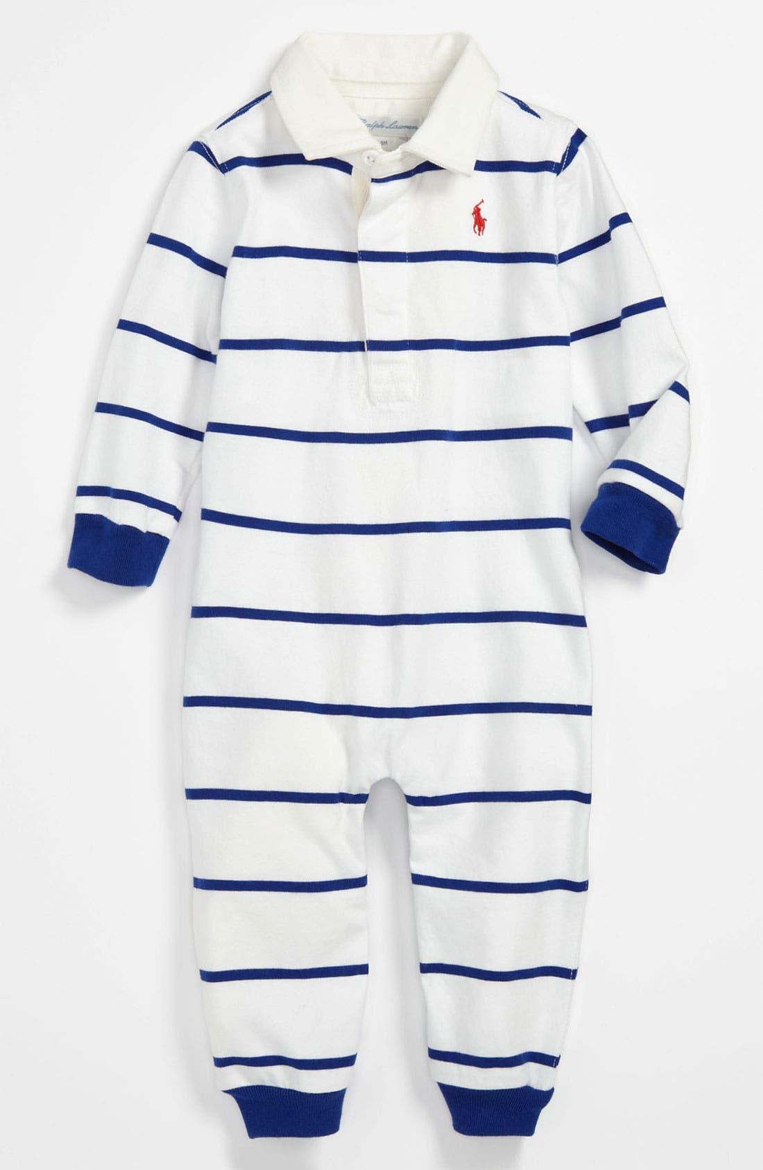 Main Image - Ralph Lauren Stripe Romper (Infant)