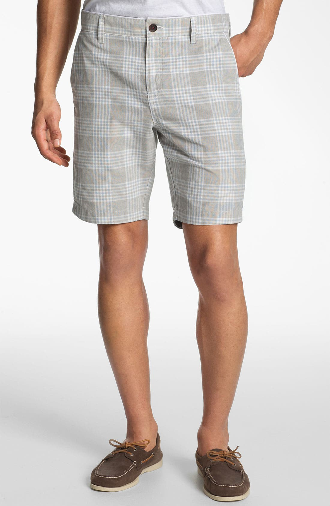 'Yaxley Check' Shorts,                             Main thumbnail 1, color,                             Blue