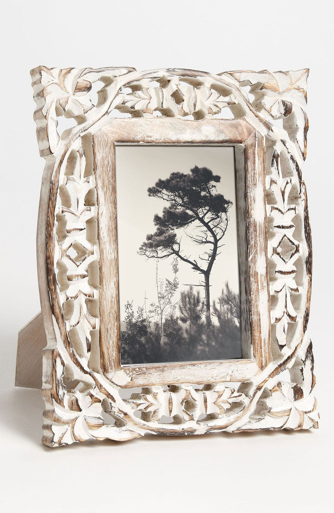 Alternate Image 1 Selected - Carved Wood Picture Frame (4x6)