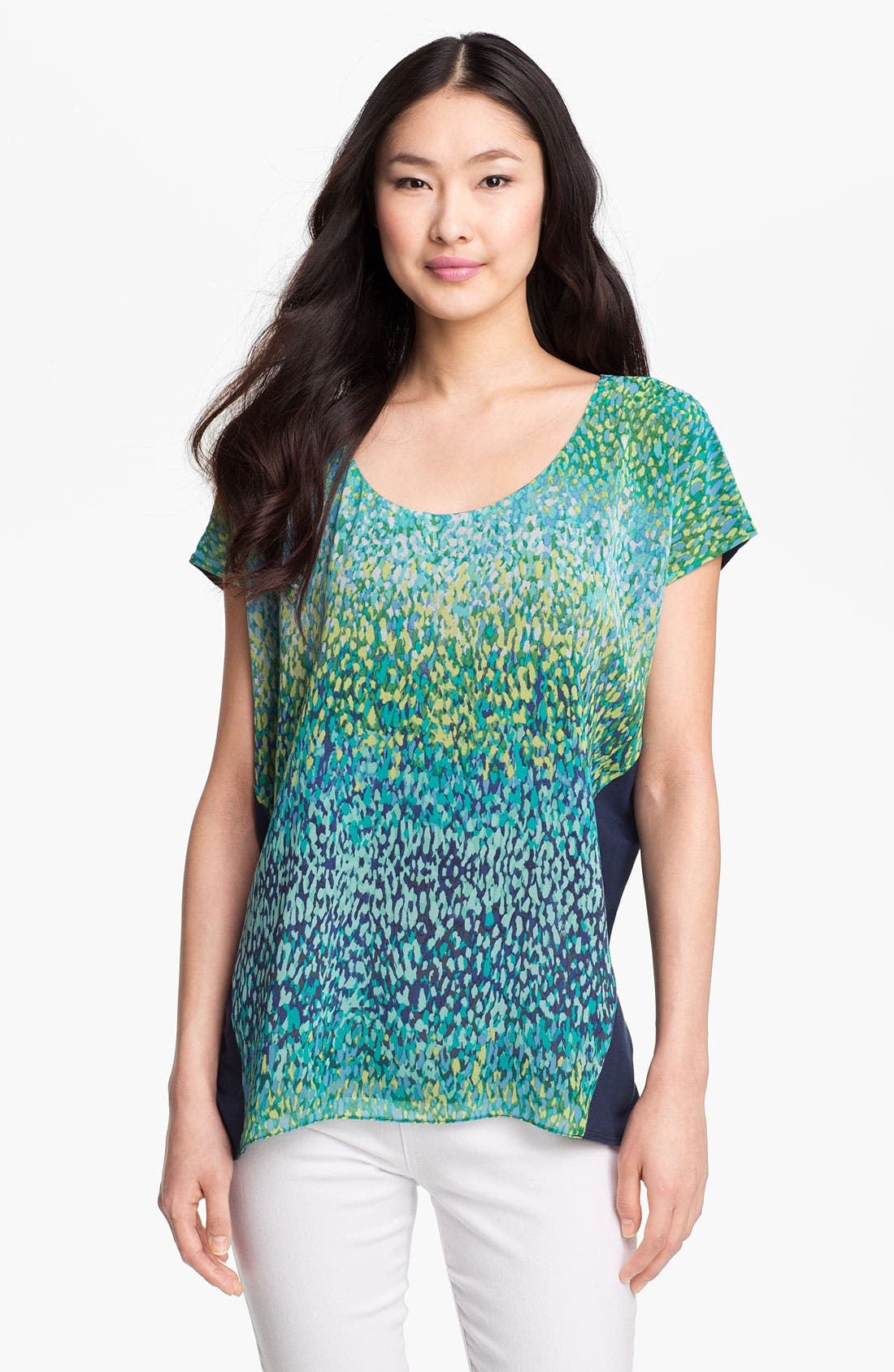 Main Image - NYDJ Print Front Flutter Sleeve Top
