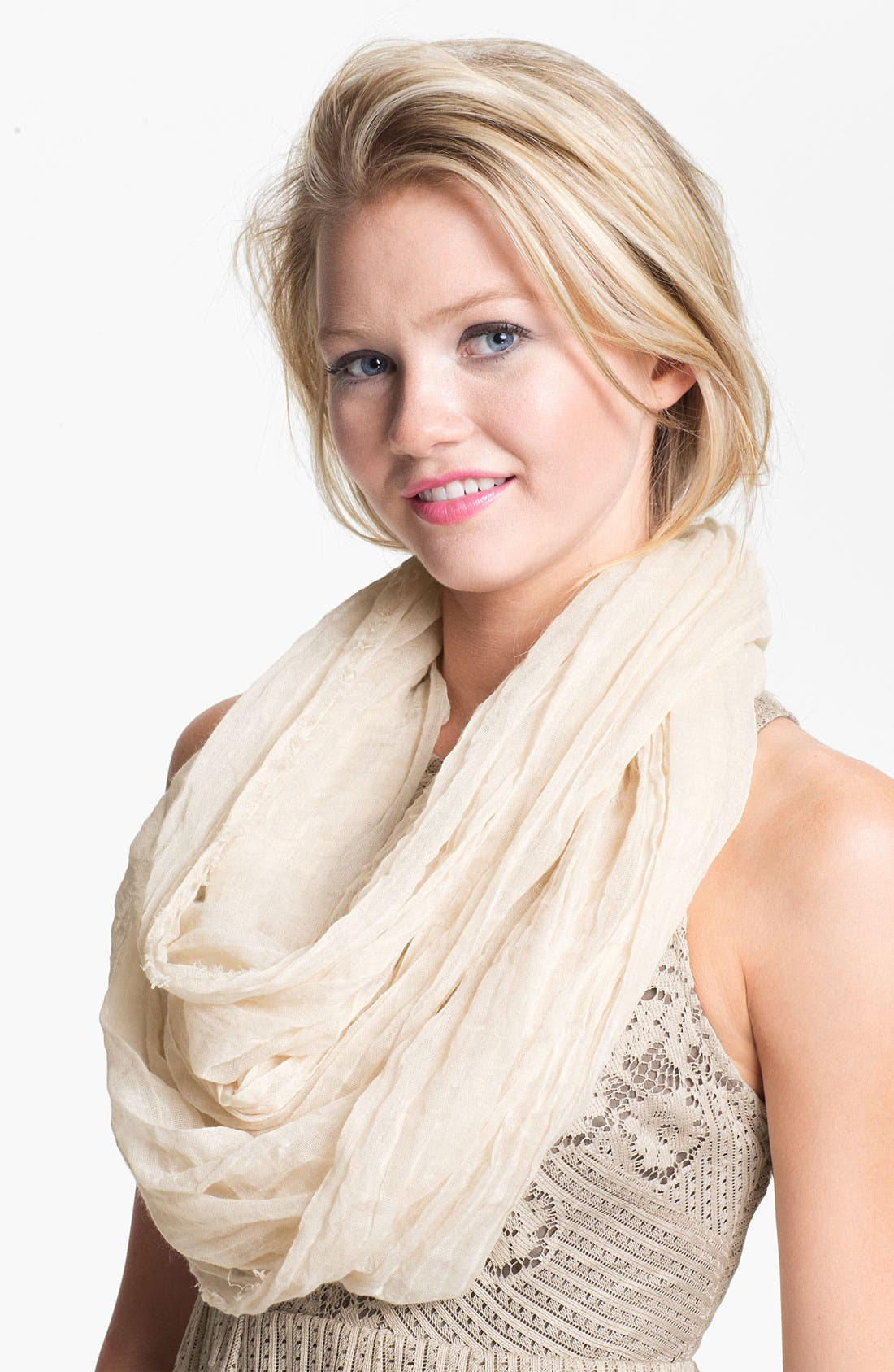 'The Ringer' Infinity Scarf,                         Main,                         color, Champagne