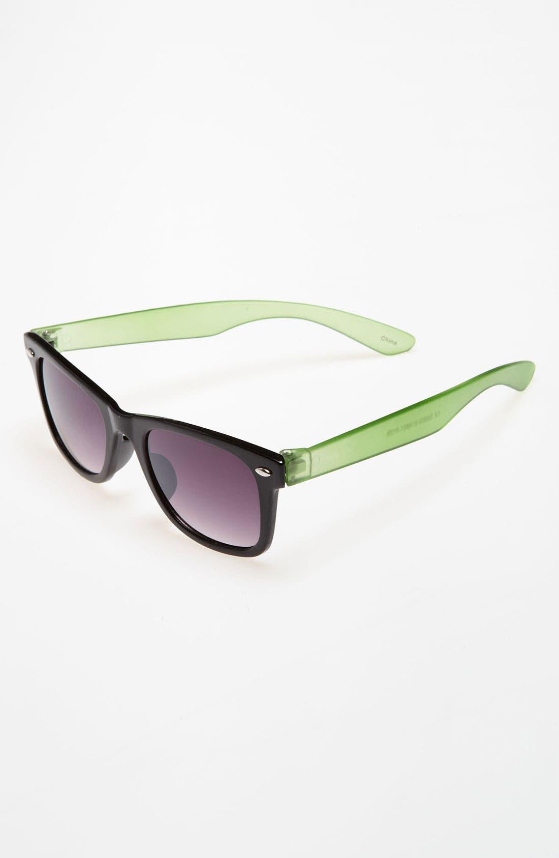 Sunglasses,                             Main thumbnail 1, color,                             Black Green/ Smoke