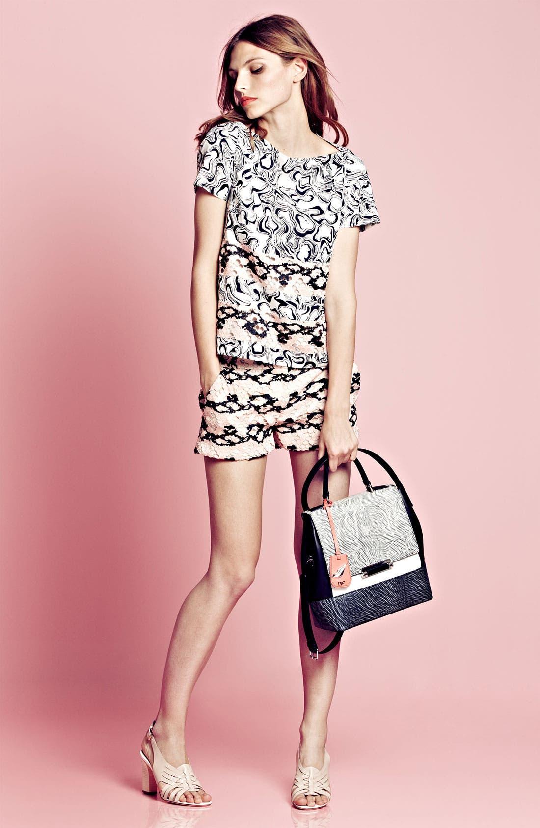 Main Image - Diane von Furstenberg Tee & Shorts