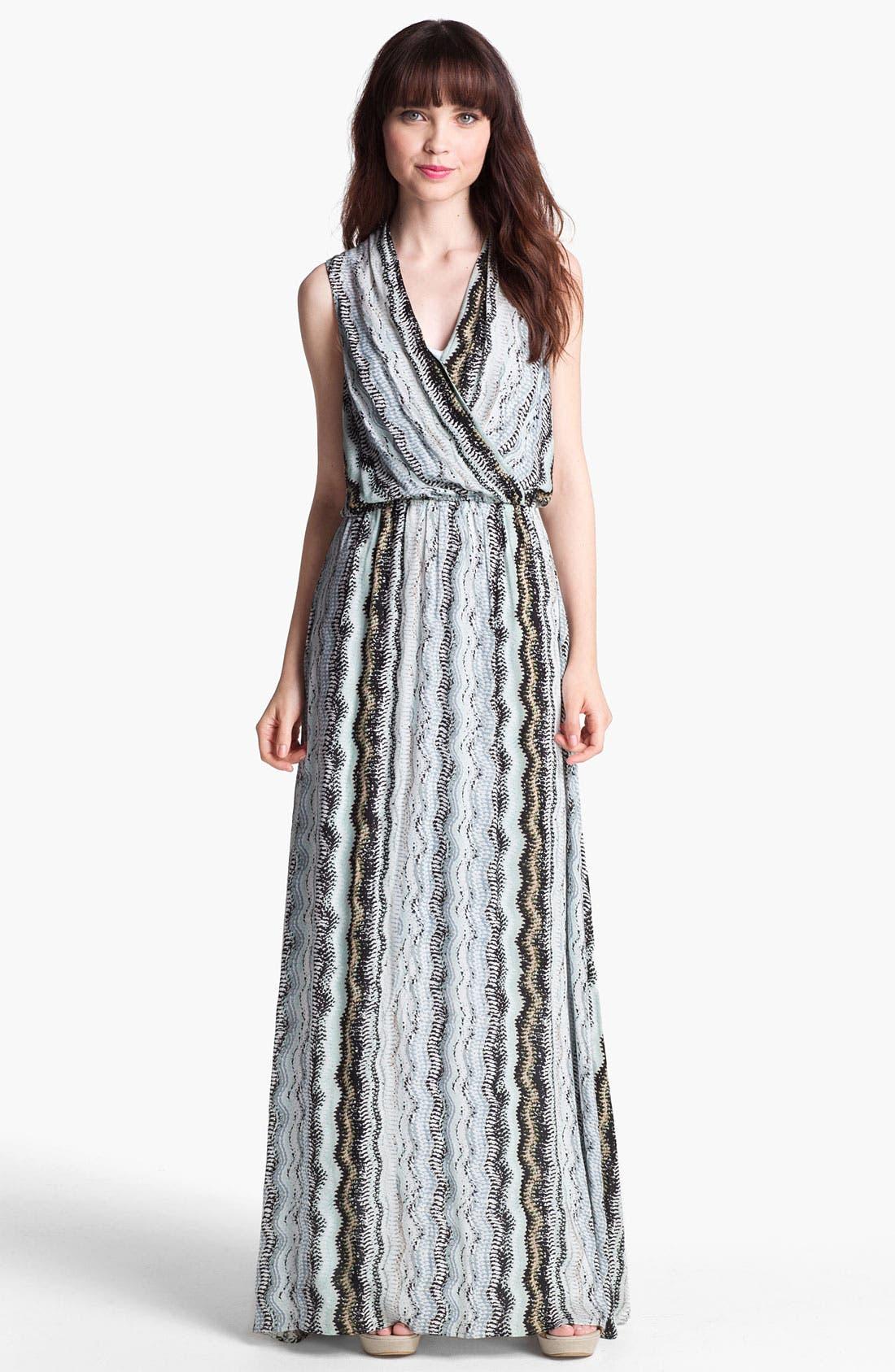 Alternate Image 1 Selected - Ella Moss Zigzag Print Maxi Dress