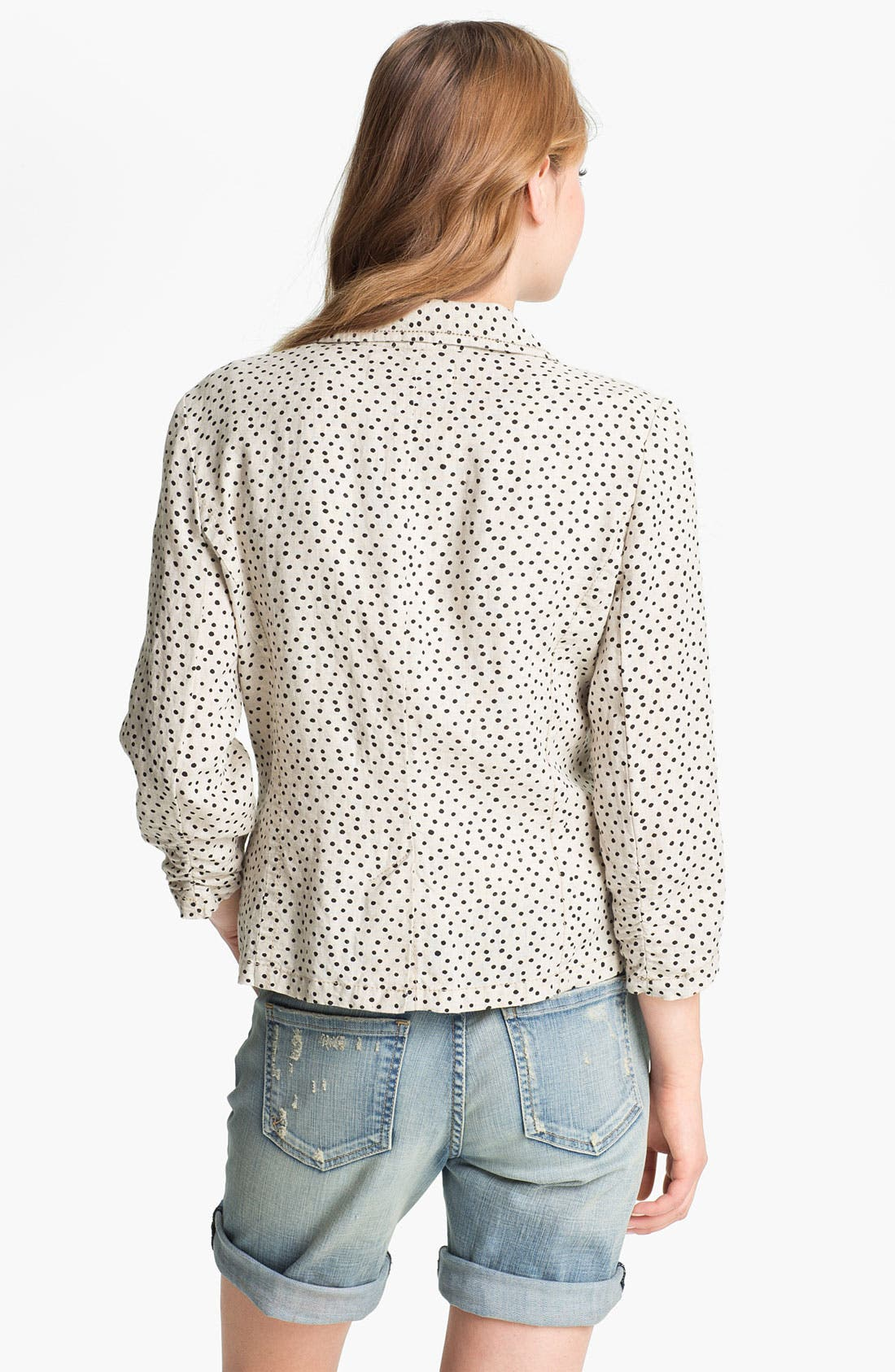 Alternate Image 2  - Caslon® Two Button Linen Jacket (Regular & Petite)