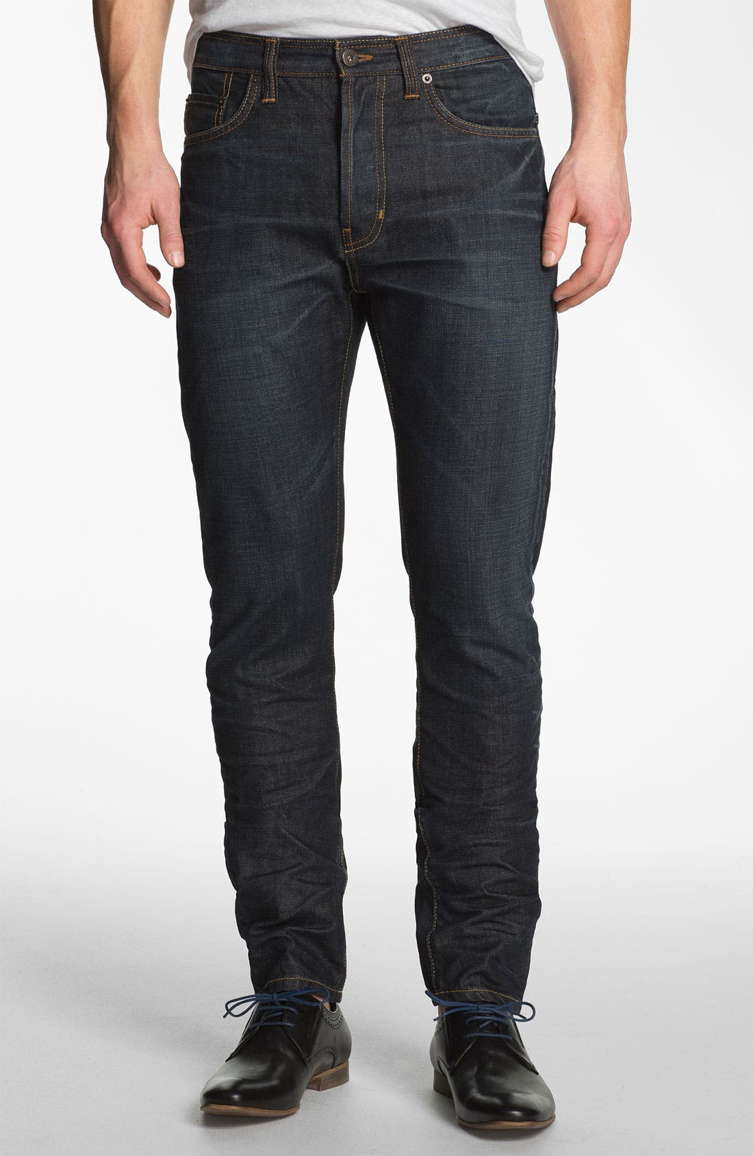 Alternate Image 2  - Natural Selection Denim 'Bruised' Slim Carrot Fit Jeans (Blue Rain)