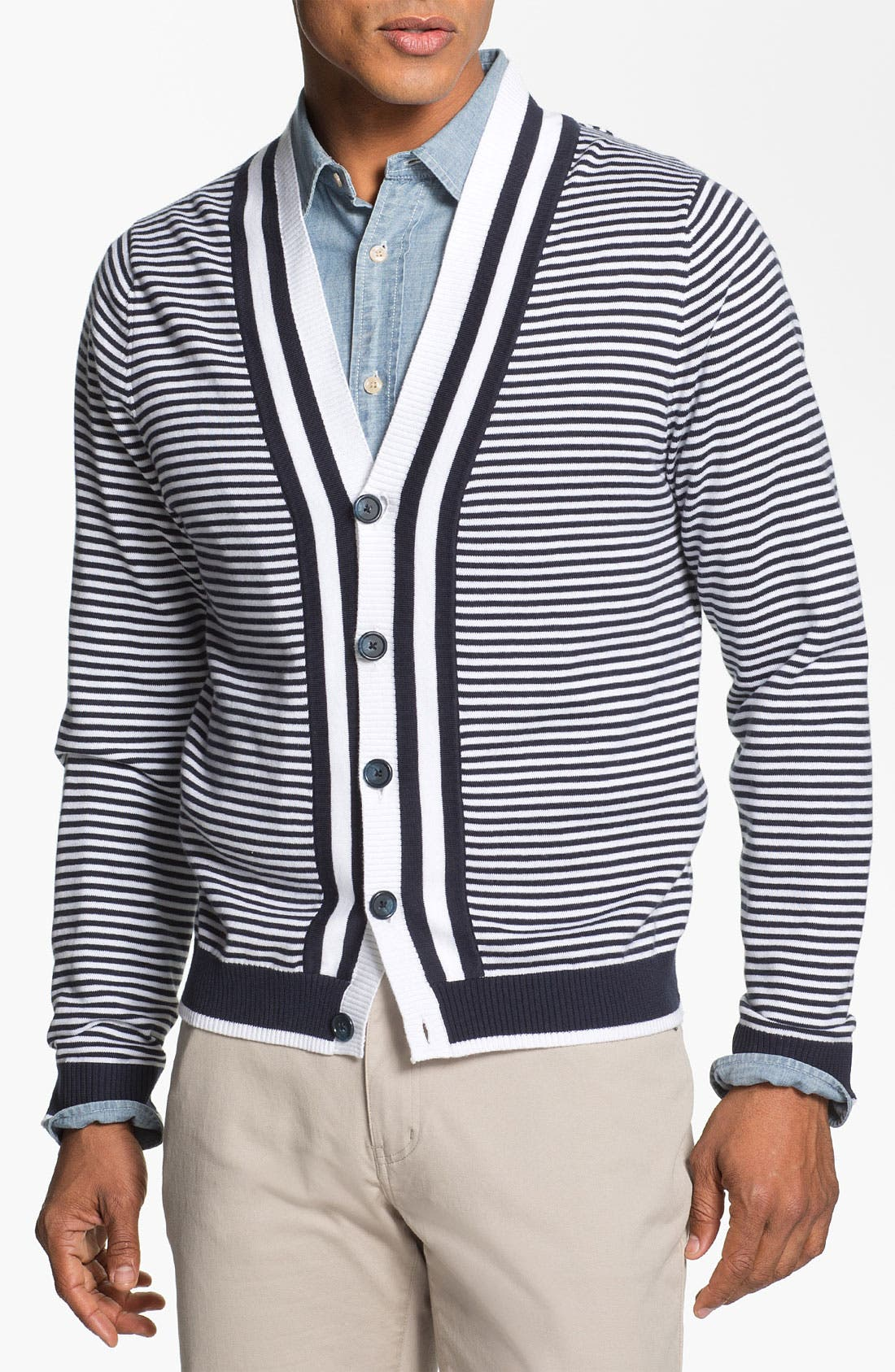 Main Image - Brooks Brothers Supima® Cotton Cardigan