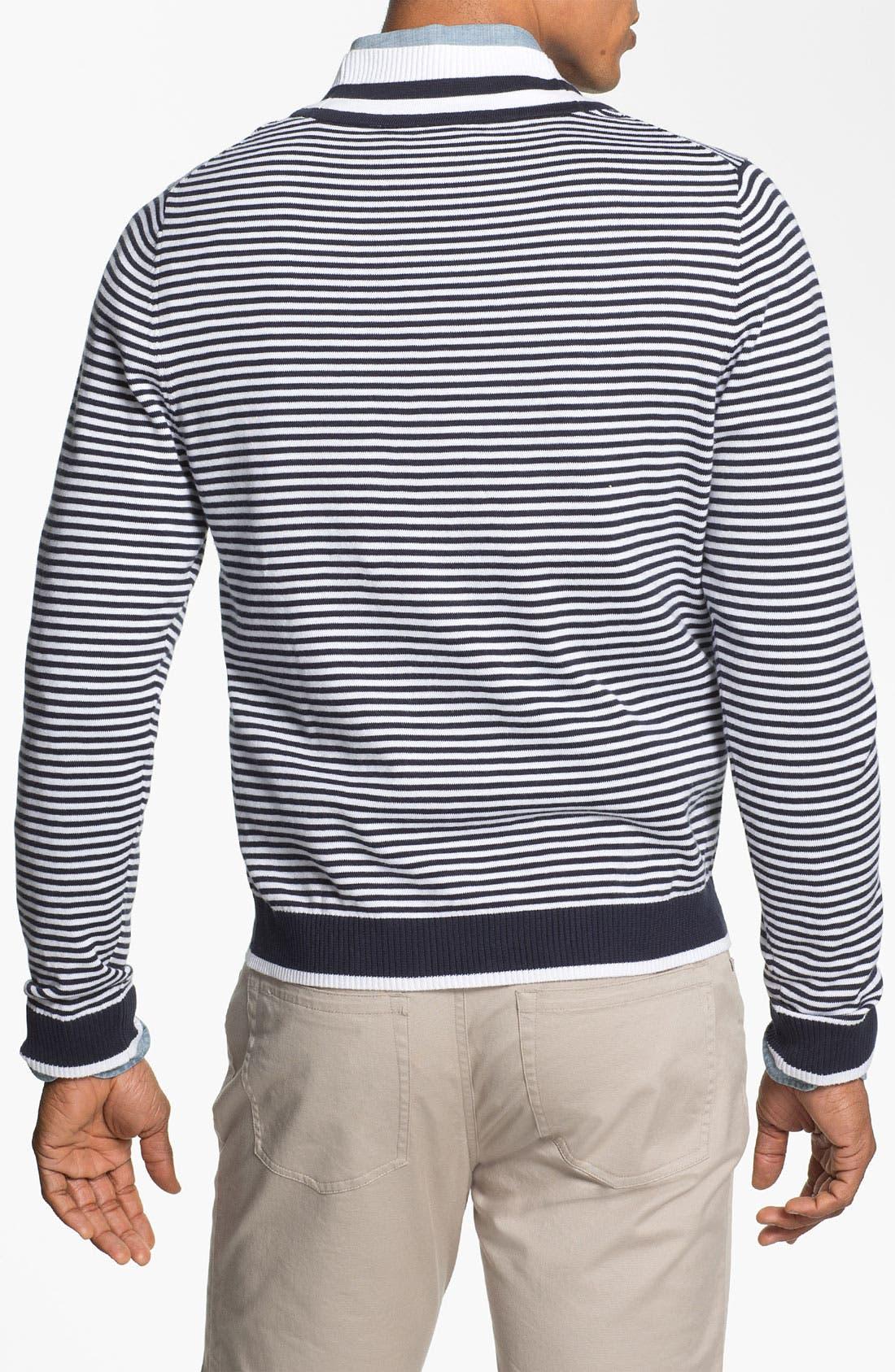 Alternate Image 2  - Brooks Brothers Supima® Cotton Cardigan