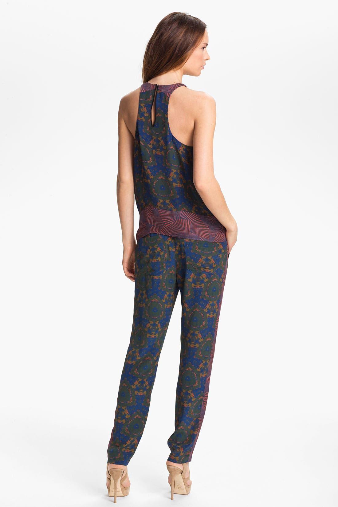 Alternate Image 5  - A.L.C. 'Bryant' Mix Print Silk Pants