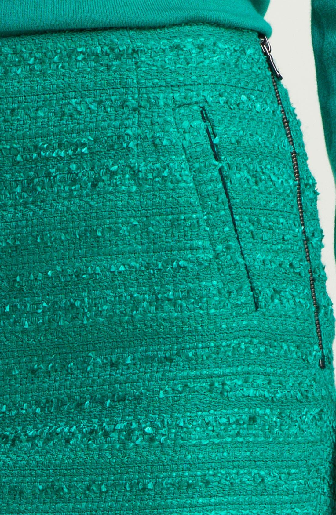 Alternate Image 3  - Halogen® Textured Pencil Skirt (Petite)