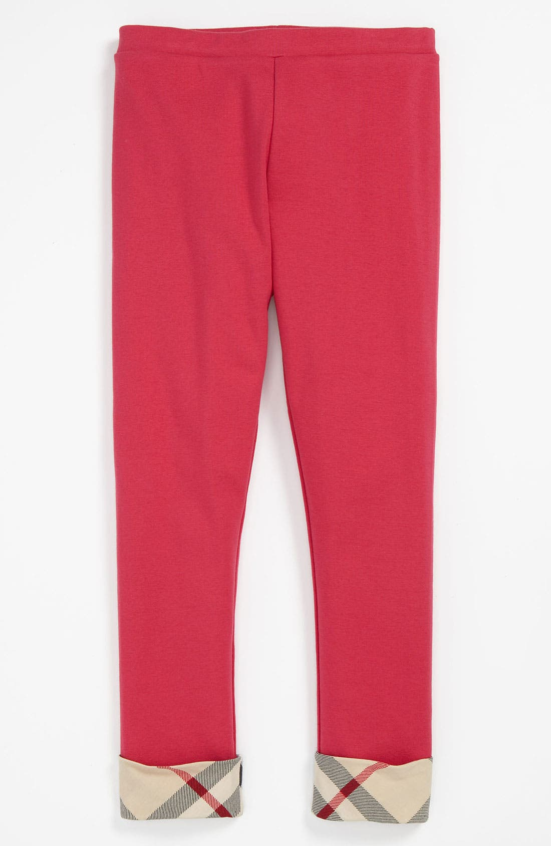 Alternate Image 1 Selected - Burberry 'Laura' Knit Leggings (Little Girls & Big Girls)