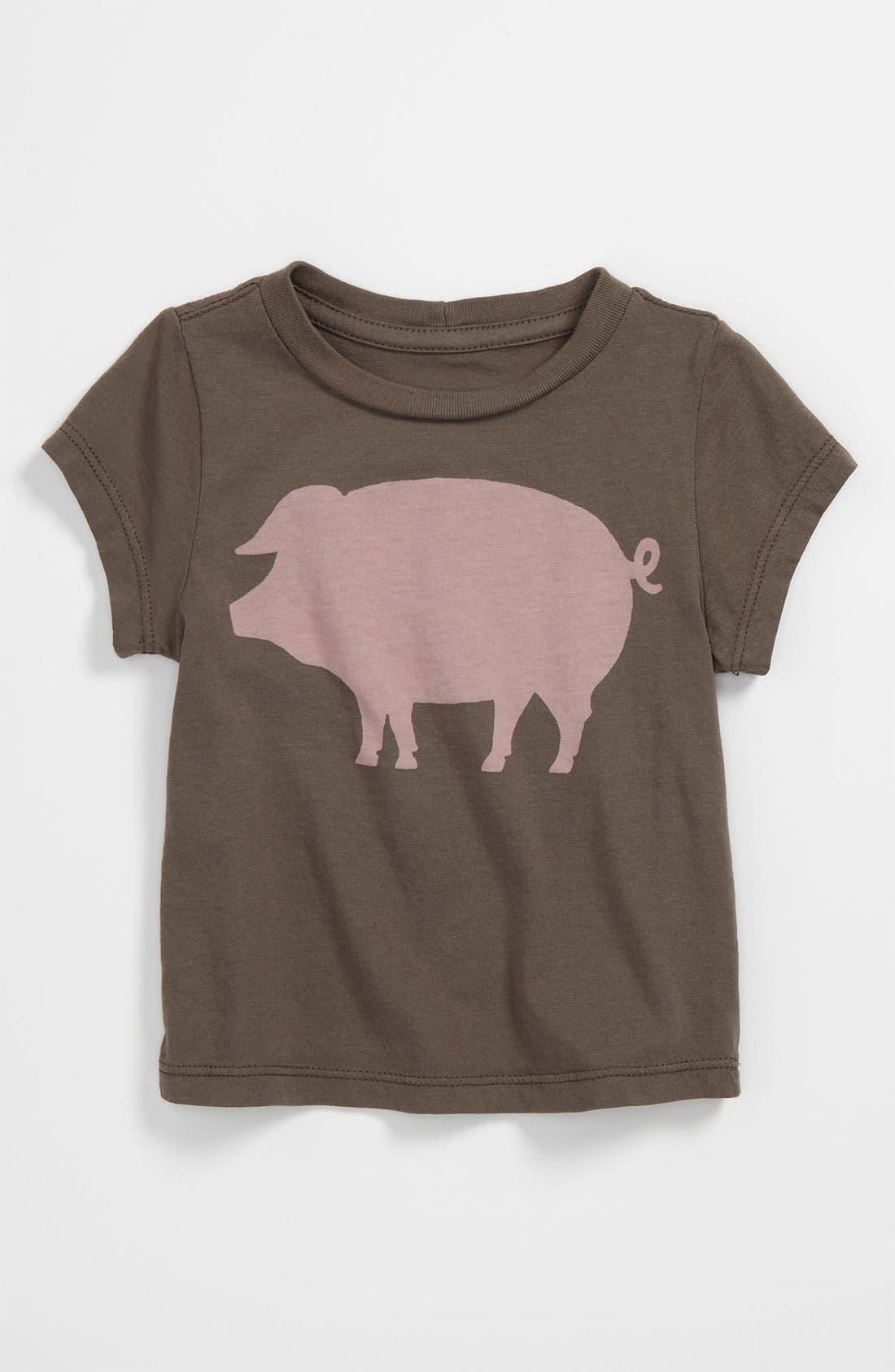 Alternate Image 1 Selected - Peek 'Oink' T-Shirt (Baby)