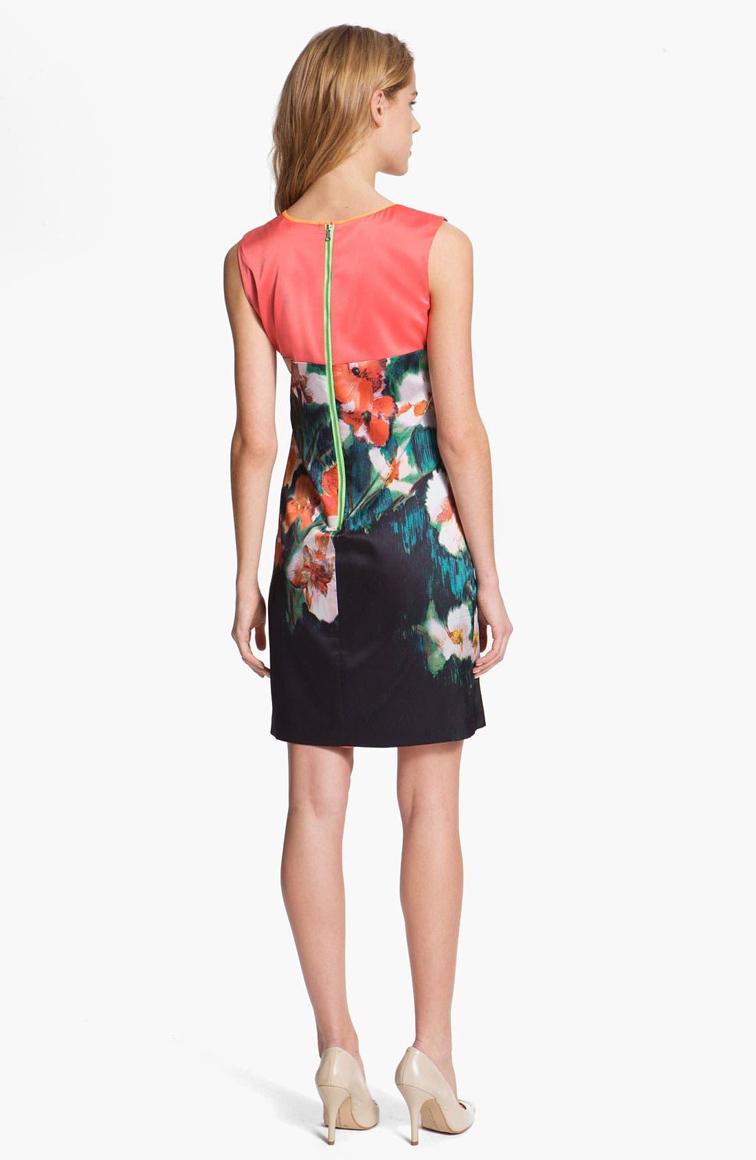 Alternate Image 2  - T Tahari 'Demitra' Print Dress