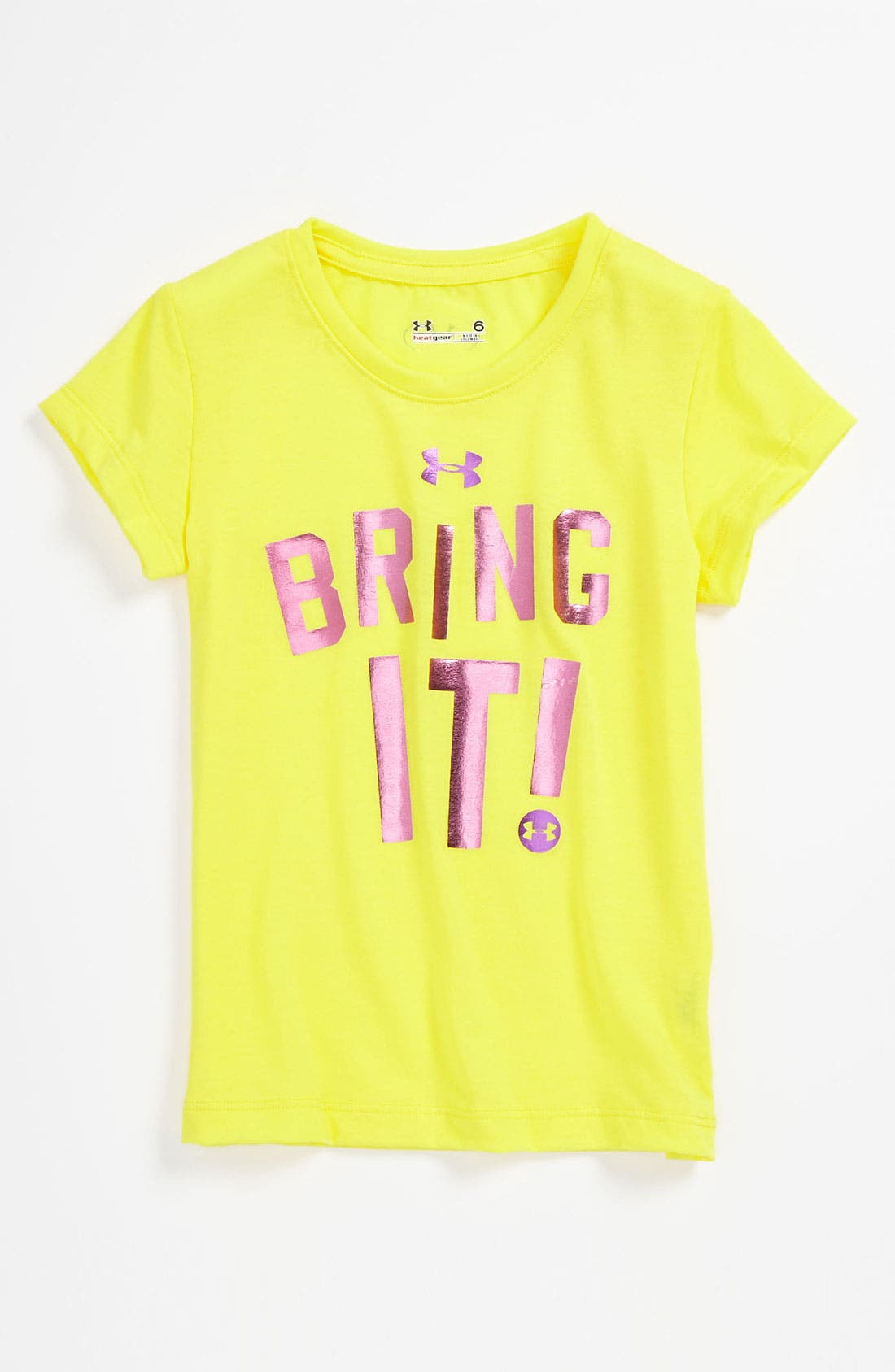 Alternate Image 1 Selected - Under Armour 'Bring It!' Tee (Little Girls)