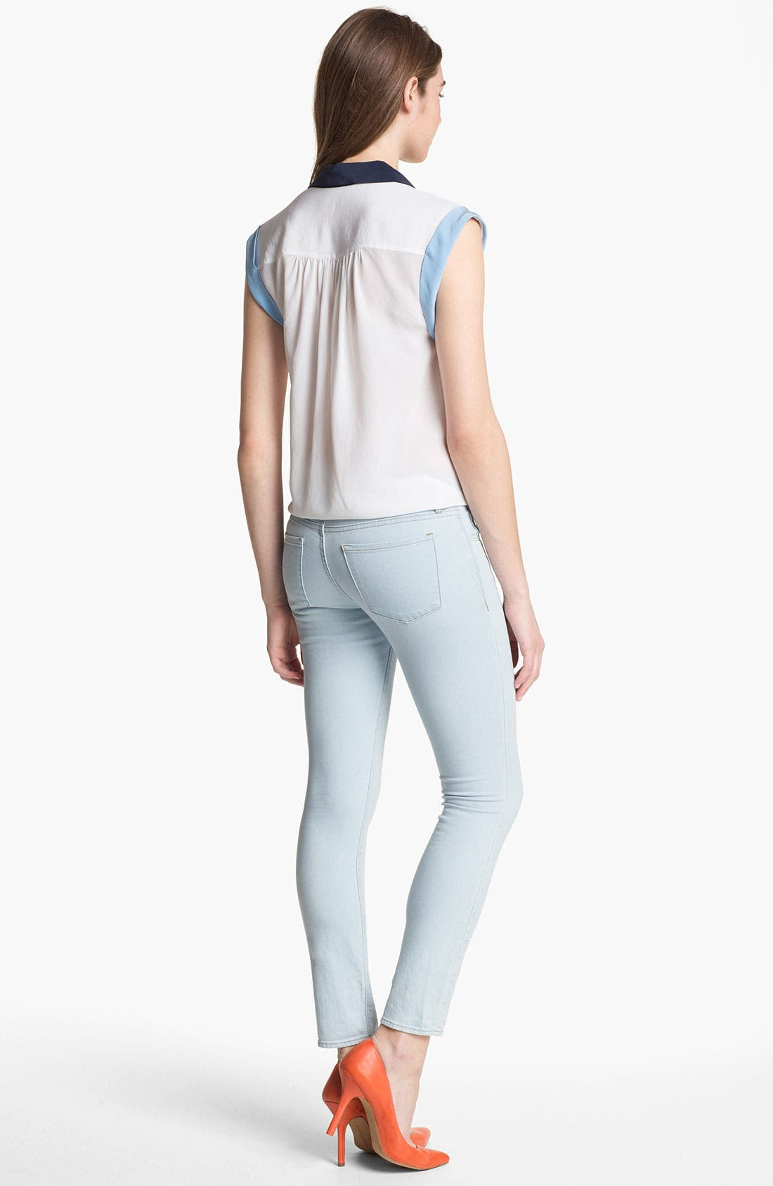 Alternate Image 5  - Two by Vince Camuto Skinny Jeans (Pale Blue)