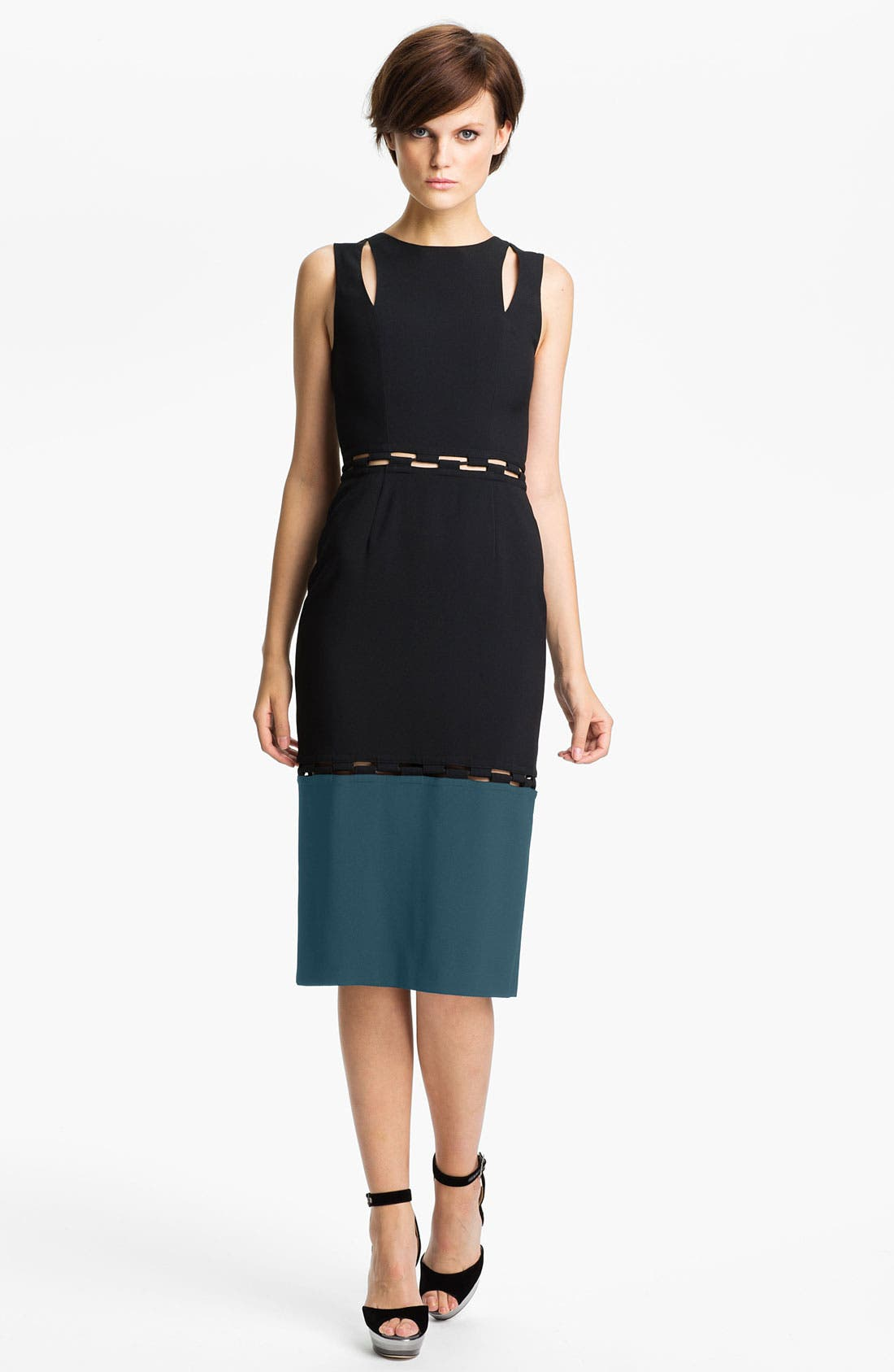 Main Image - KENZO Checkerboard Cutout Crepe Dress