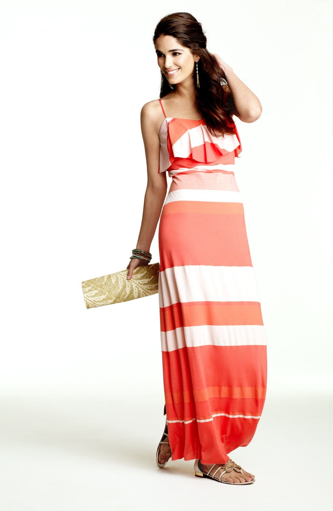 Alternate Image 4  - Cynthia Steffe 'Bailey' Ruffled Stripe Maxi Dress