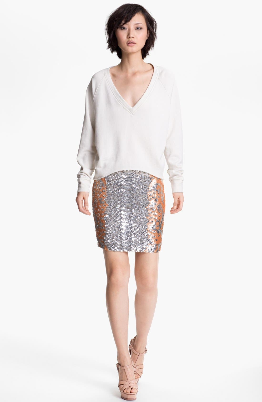 Alternate Image 4  - Haute Hippie Python Pattern Sequin Skirt (Nordstrom Exclusive)