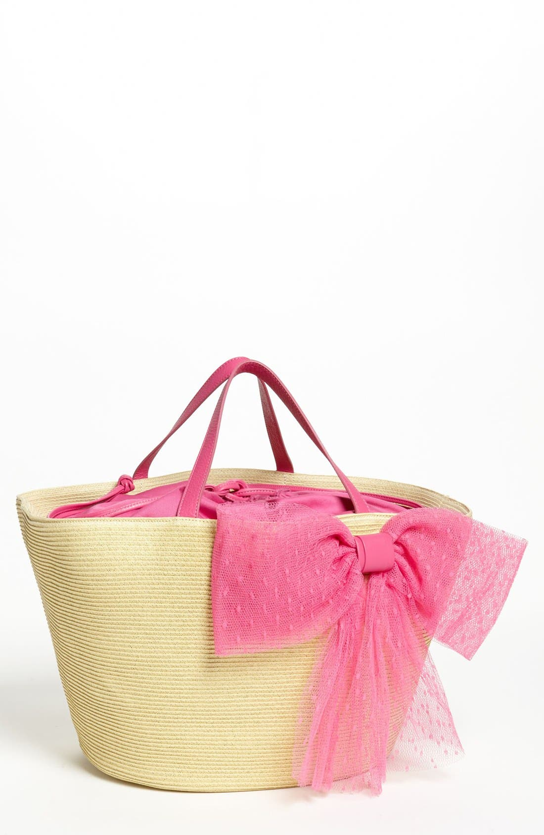 Main Image - RED Valentino 'Bow' Straw Tote