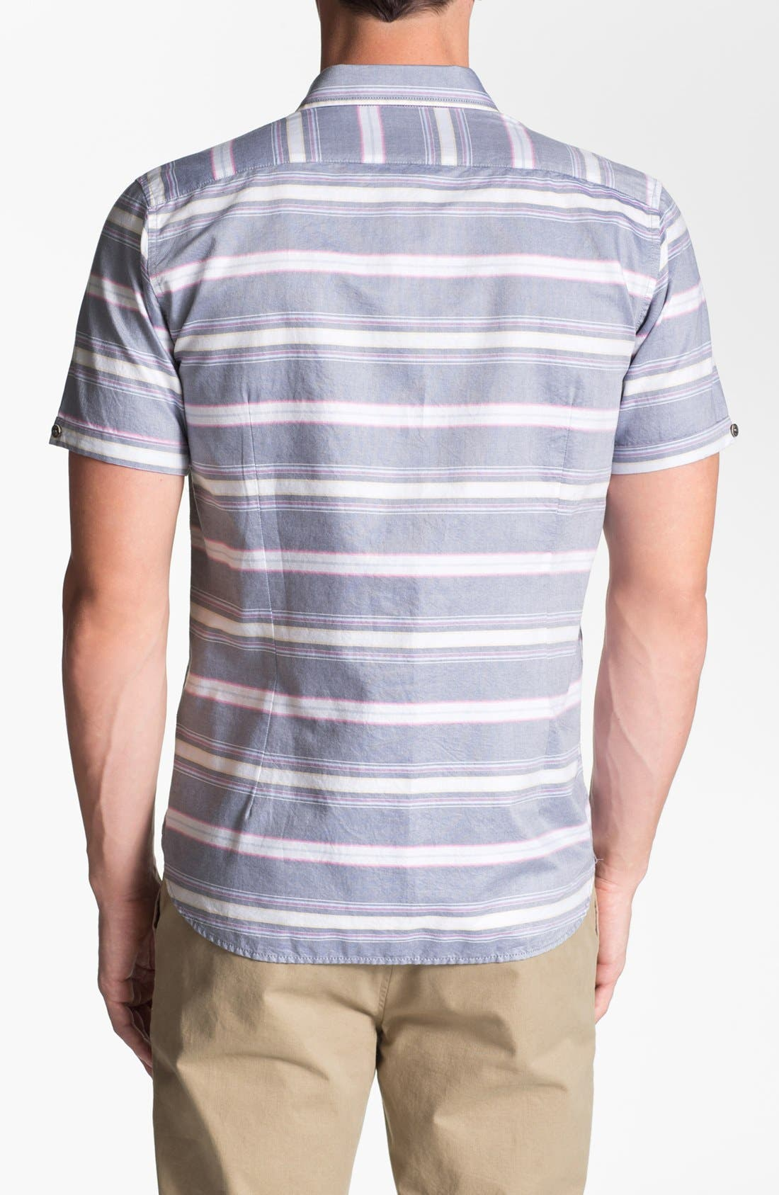 Alternate Image 2  - Ted Baker London 'Sandrog' Trim Fit Short Sleeve Oxford Sport Shirt