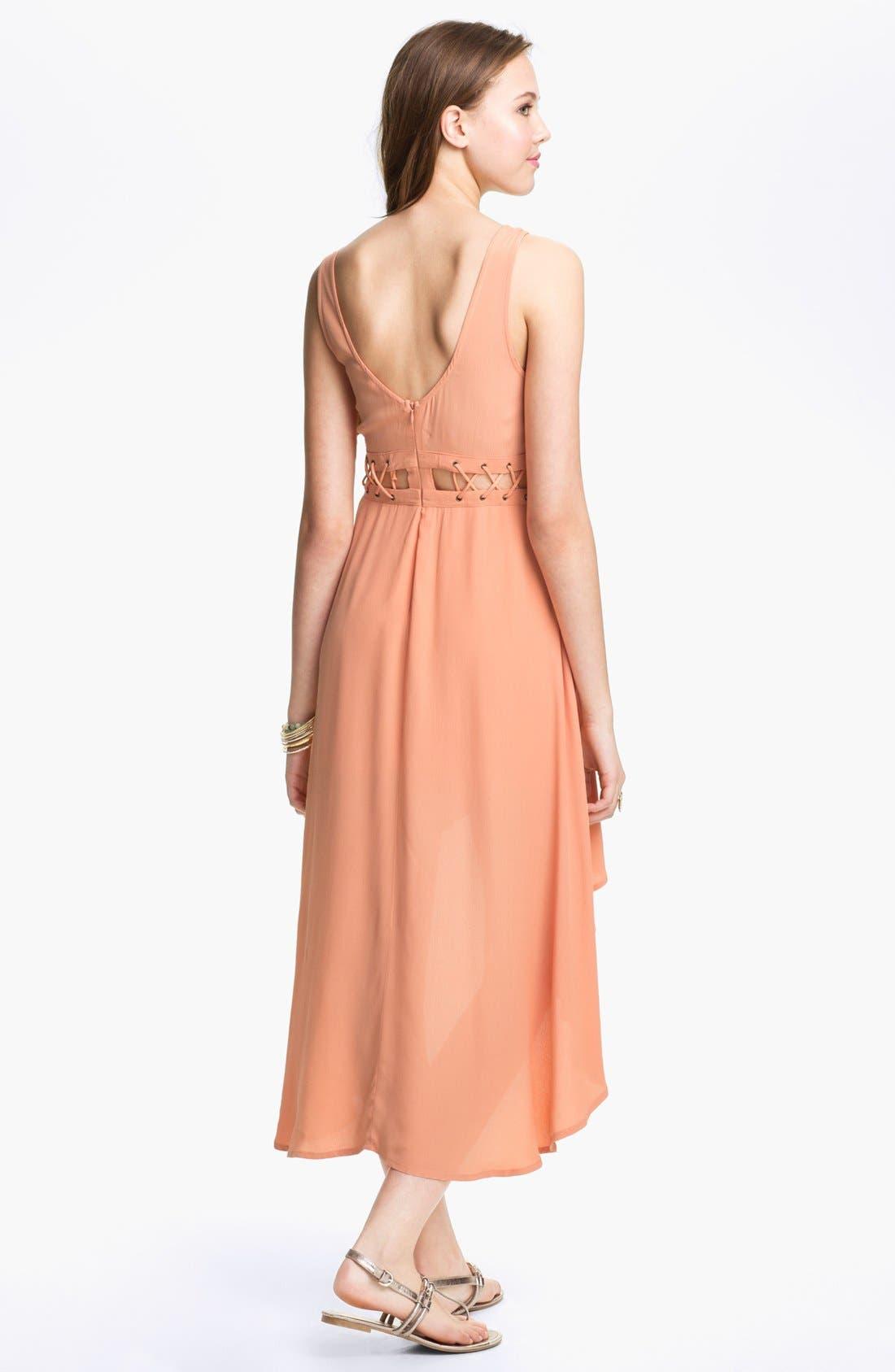 Alternate Image 2  - Lush High/Low Dress (Juniors)