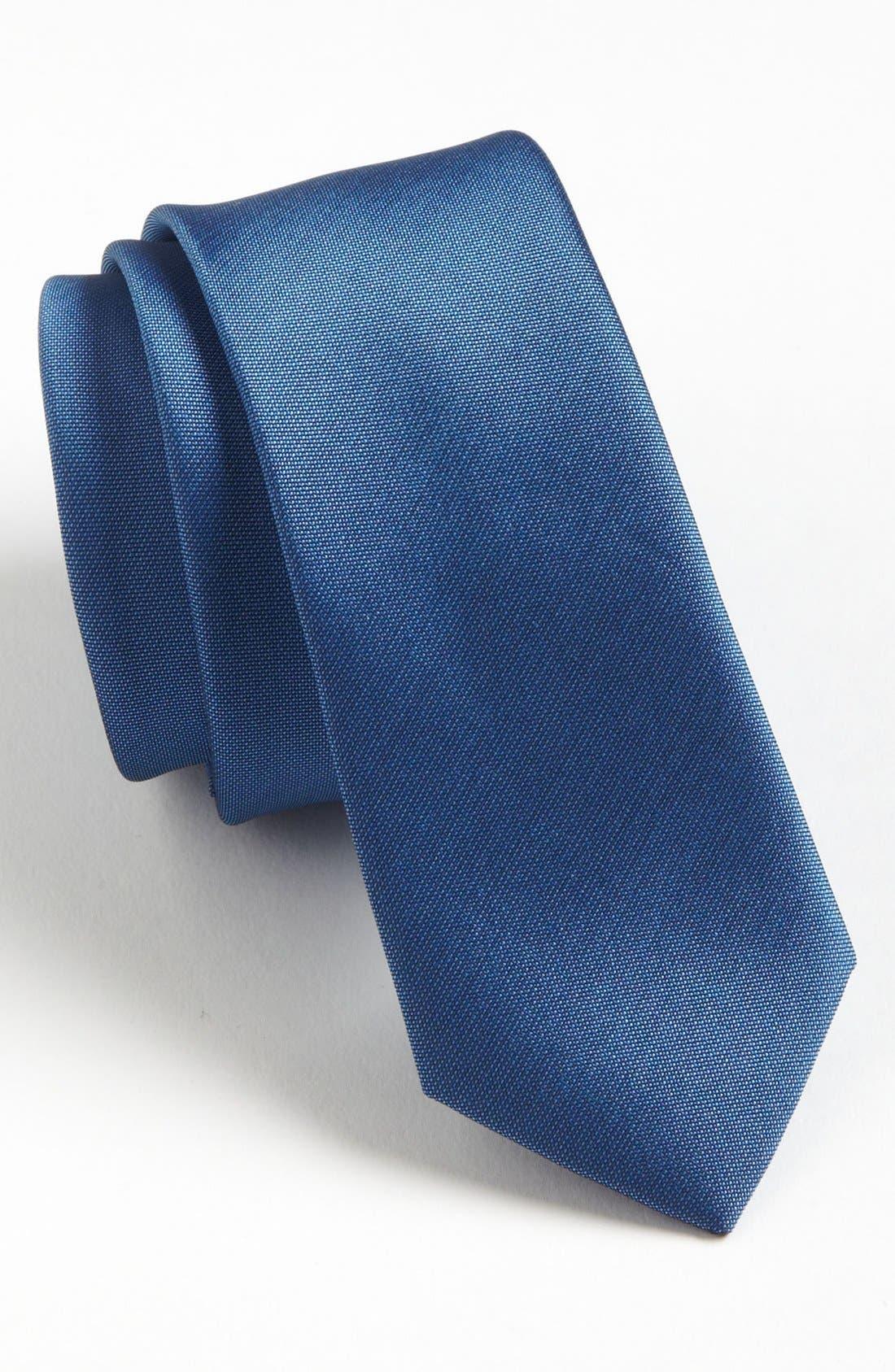 Alternate Image 1 Selected - Topman 'Spring' Skinnny Woven Tie