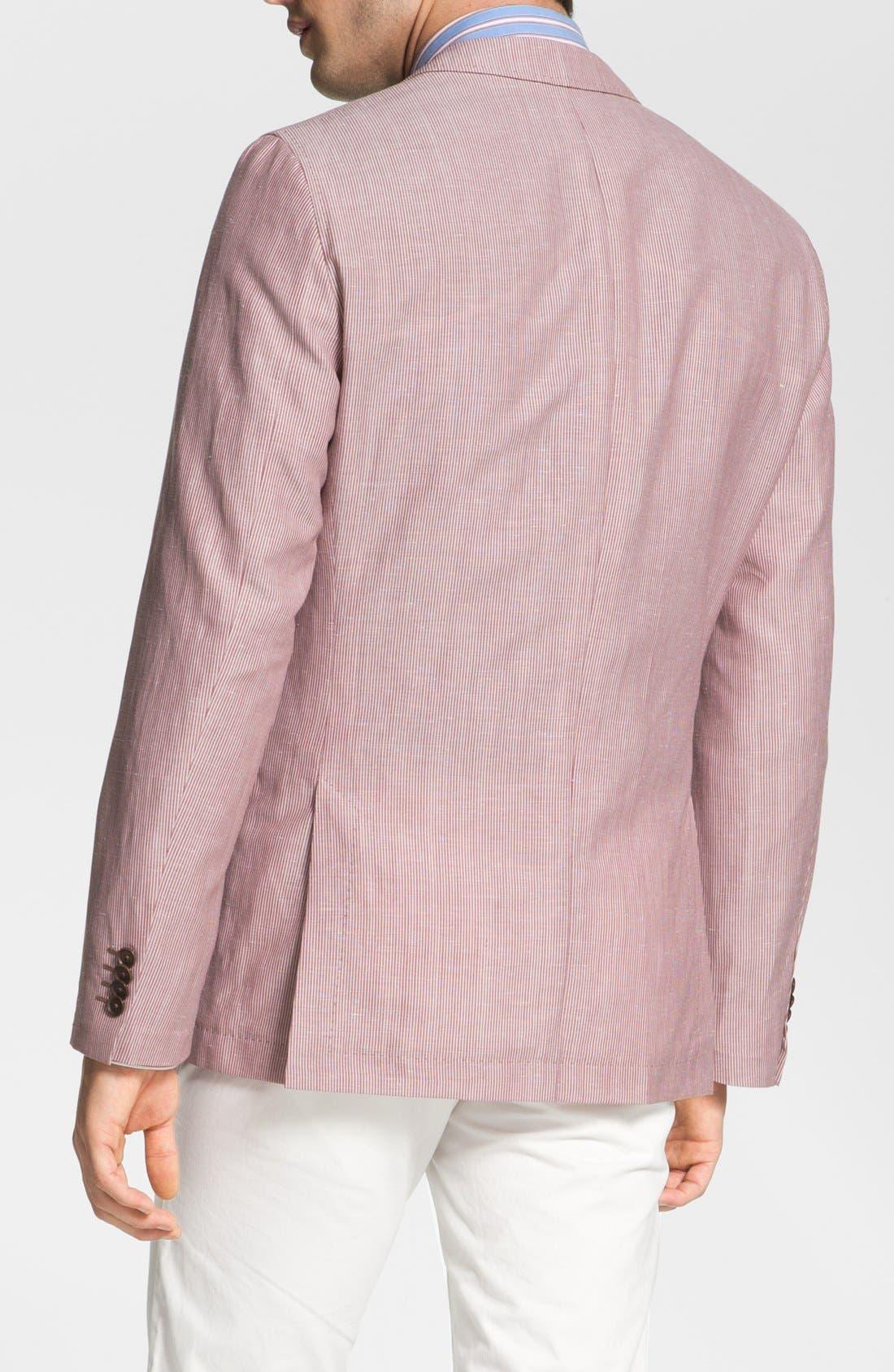 Alternate Image 2  - BOSS HUGO BOSS 'Miles' Trim Fit Stripe Sportcoat