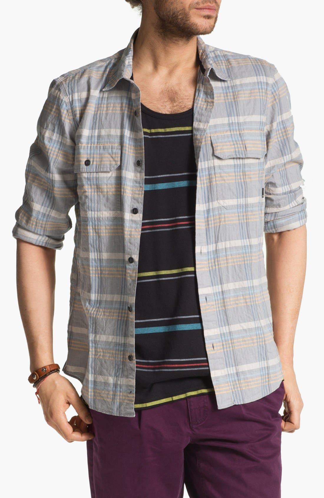Alternate Image 1 Selected - R44 Rogue Standard Issue 'Echo' Organic Cotton Flannel Shirt