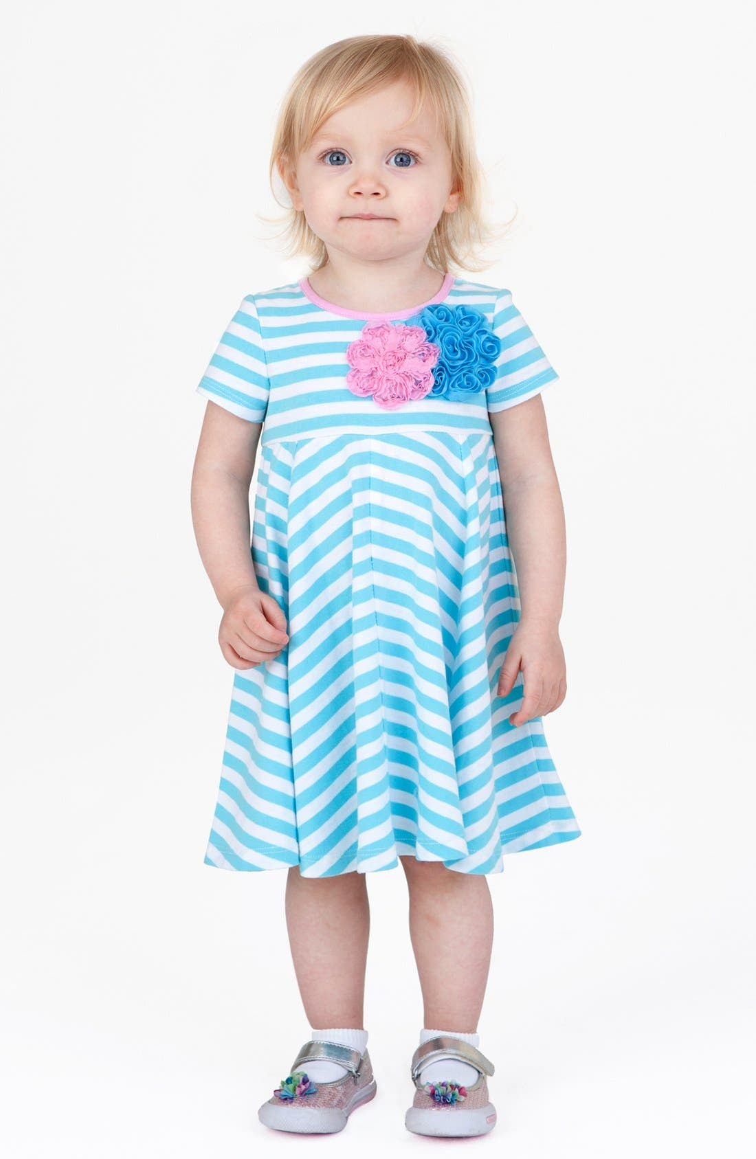 Alternate Image 2  - Pippa & Julie Stripe Dress (Baby)