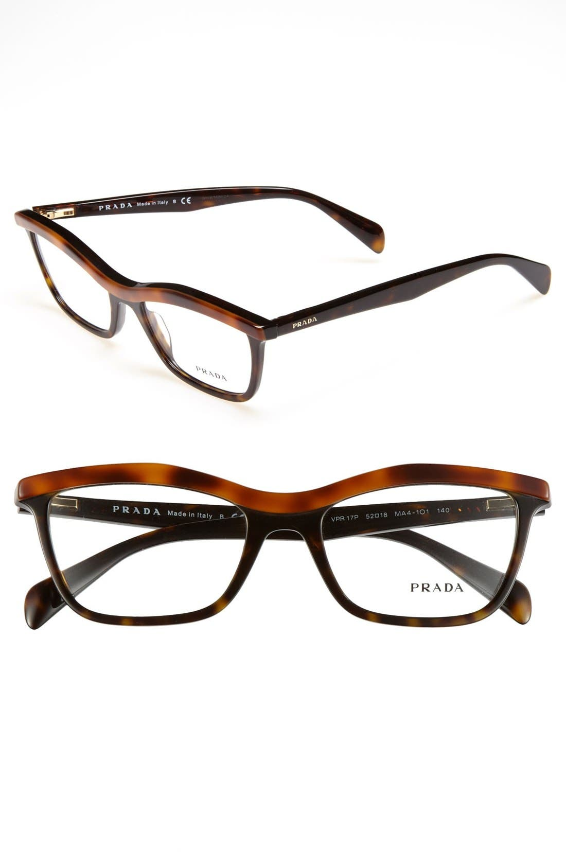 Main Image - Prada 52mm Optical Glasses (Online Only)