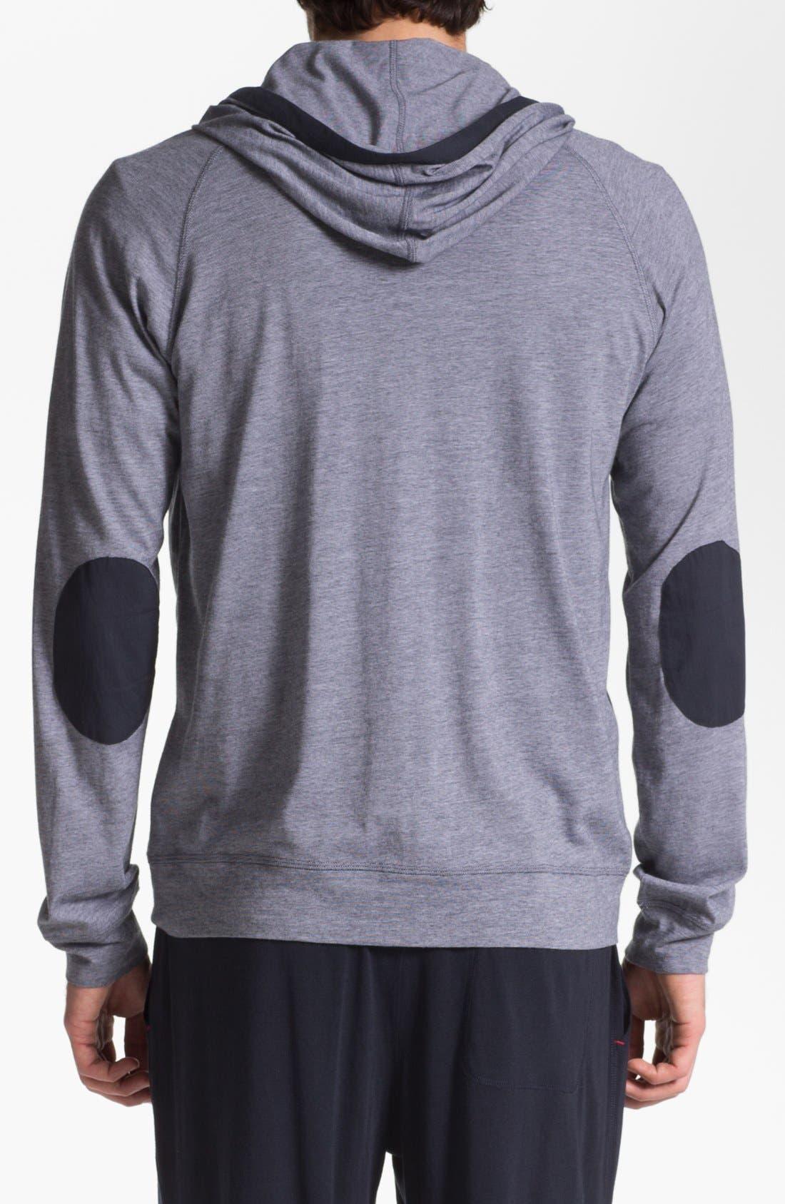 Alternate Image 2  - Daniel Buchler Pima Cotton & Modal Zip Hoodie