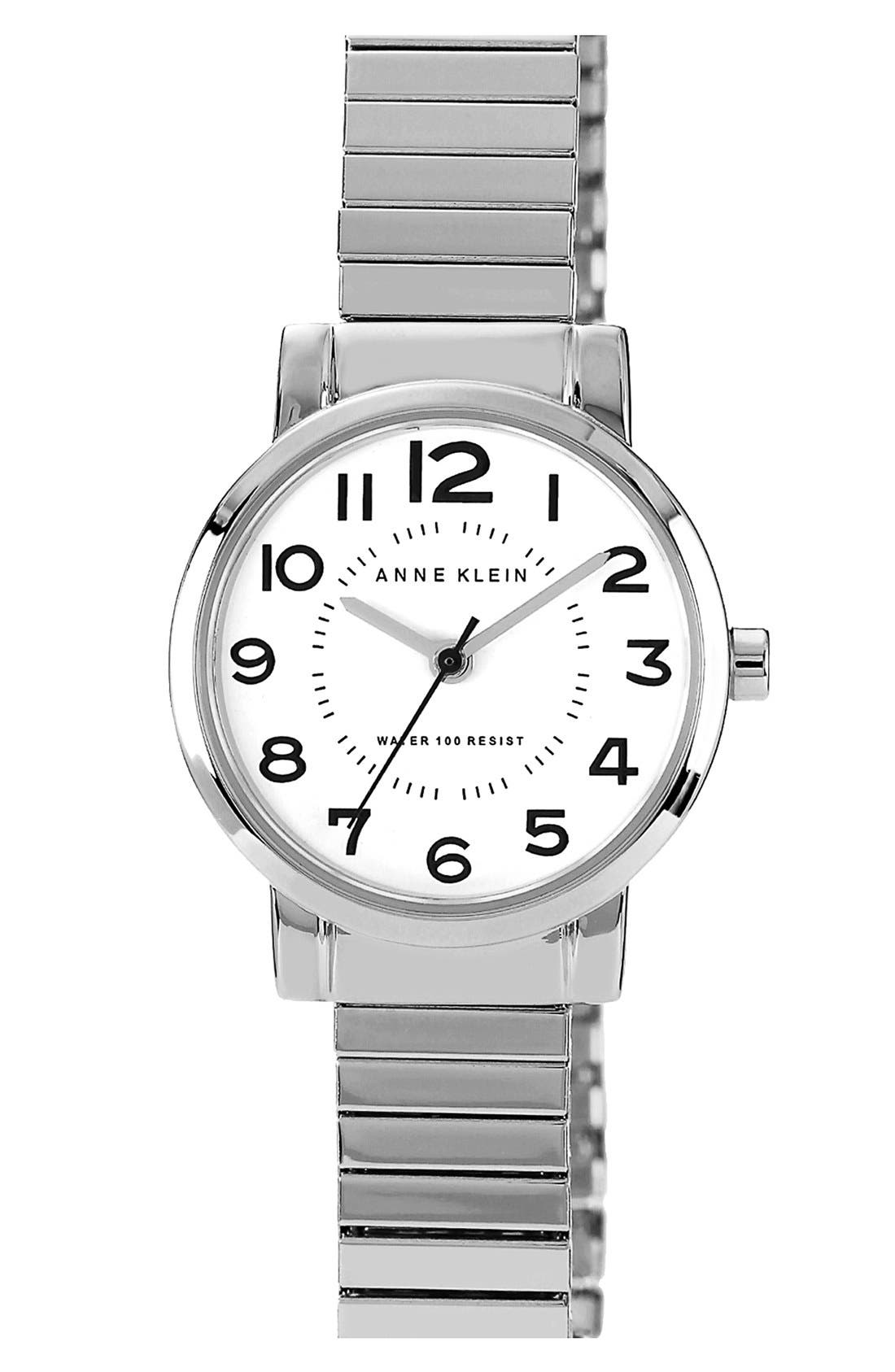 Main Image - Anne Klein Round Expandable Bracelet Watch, 26mm