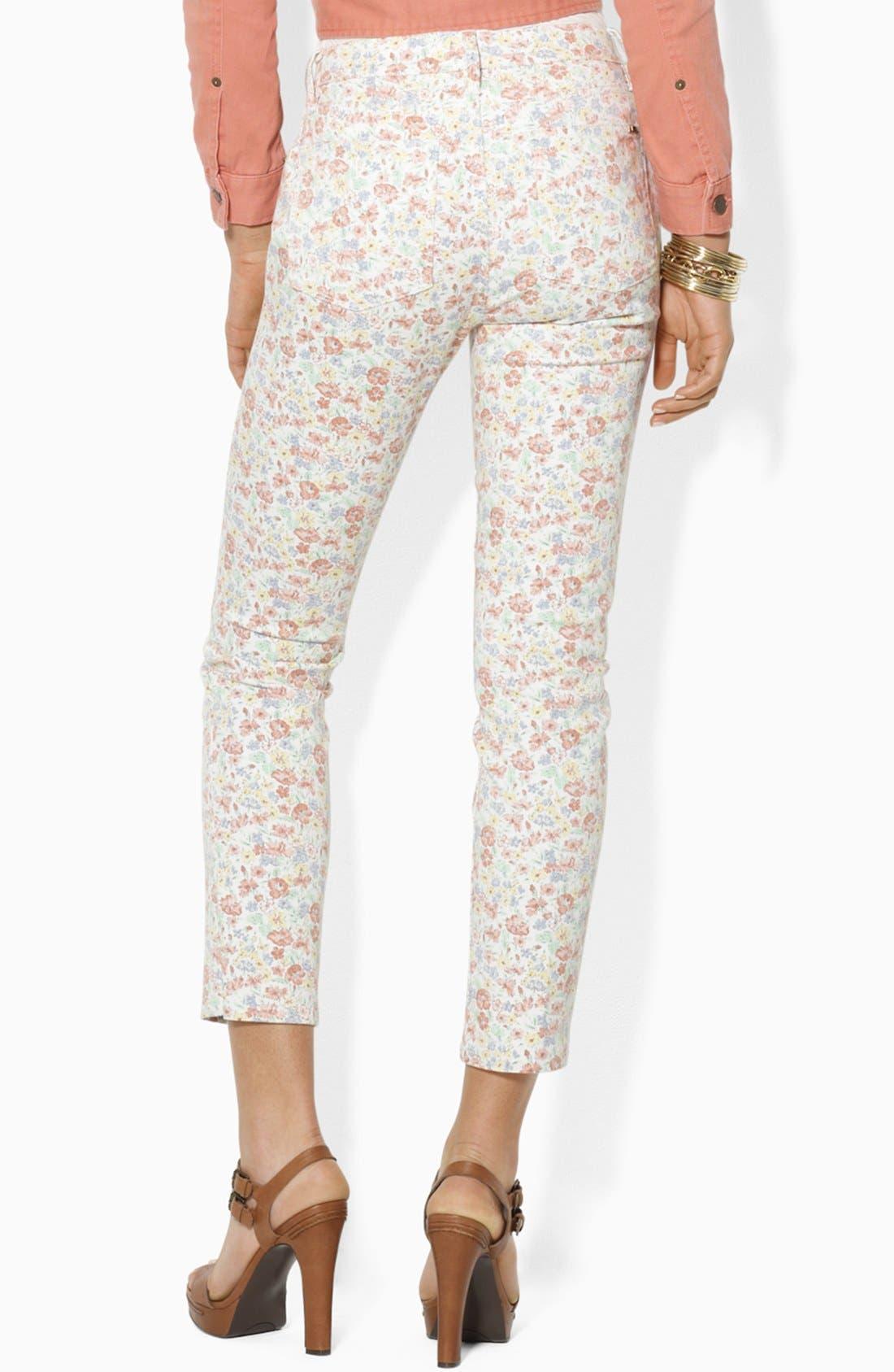Alternate Image 2  - Lauren Ralph Lauren Modern Skinny Ankle Pants (Petite)
